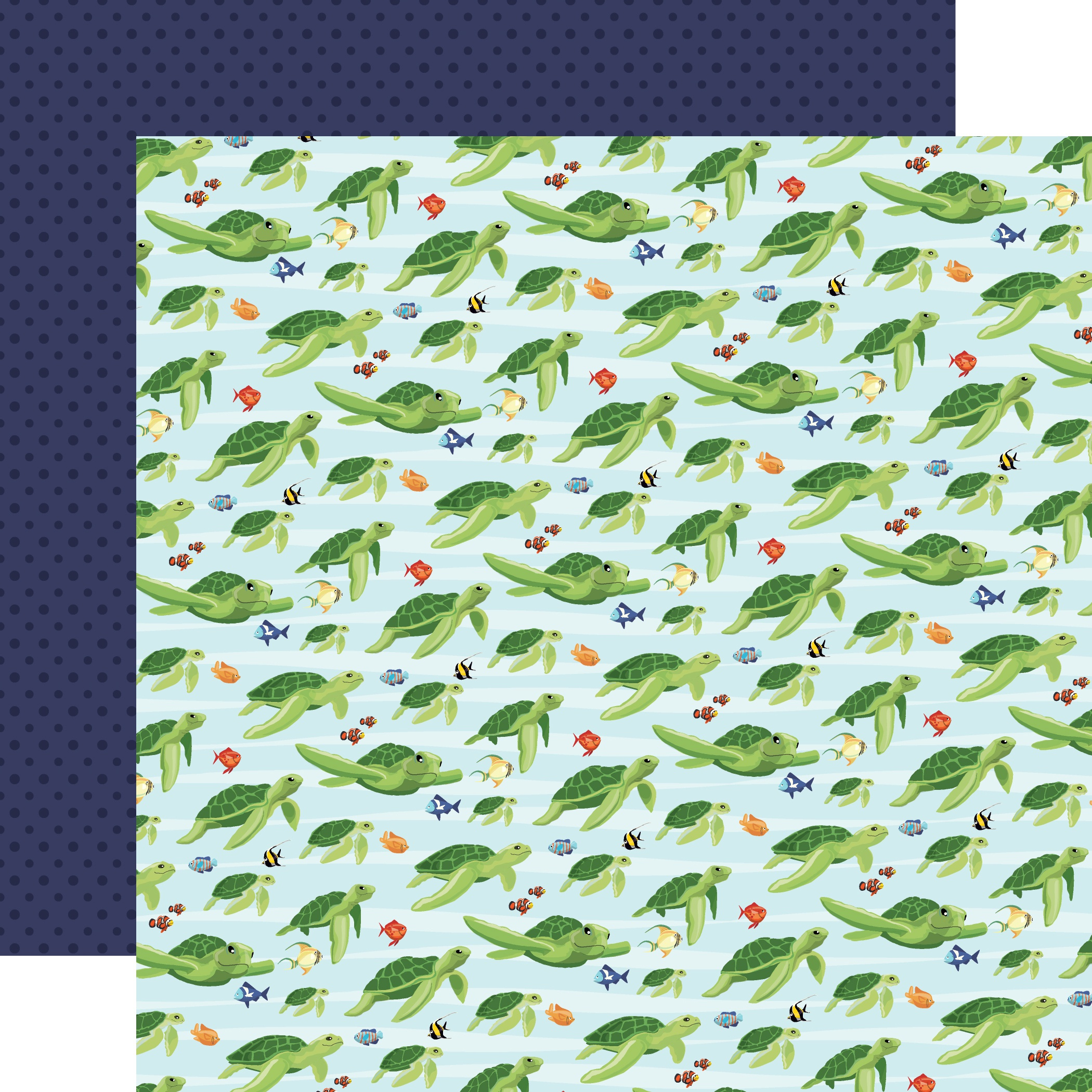 Fish Are Friends Double-Sided Cardstock 12X12-Sea Friends