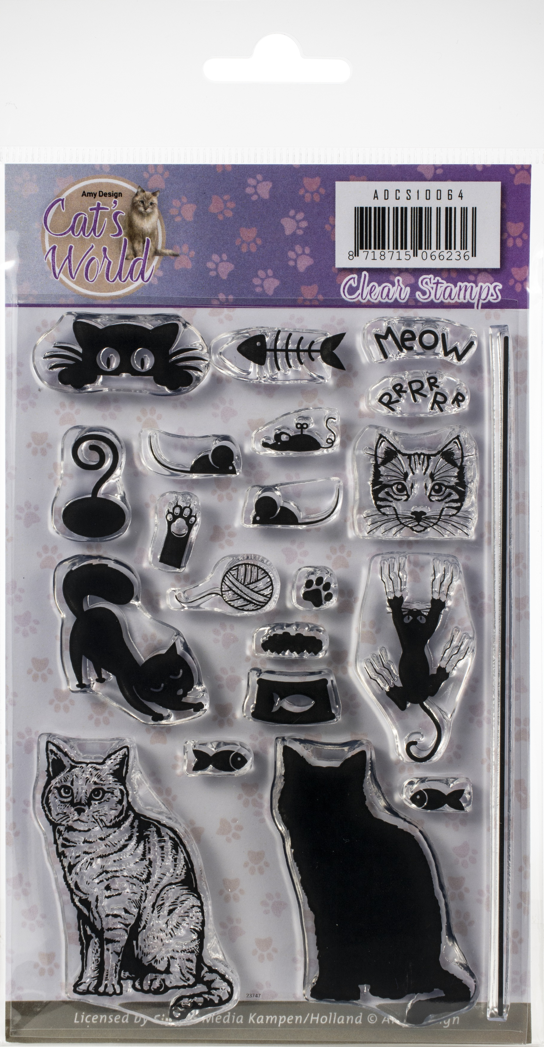 Find It Trading Amy Design Clear Stamps-Cat's World