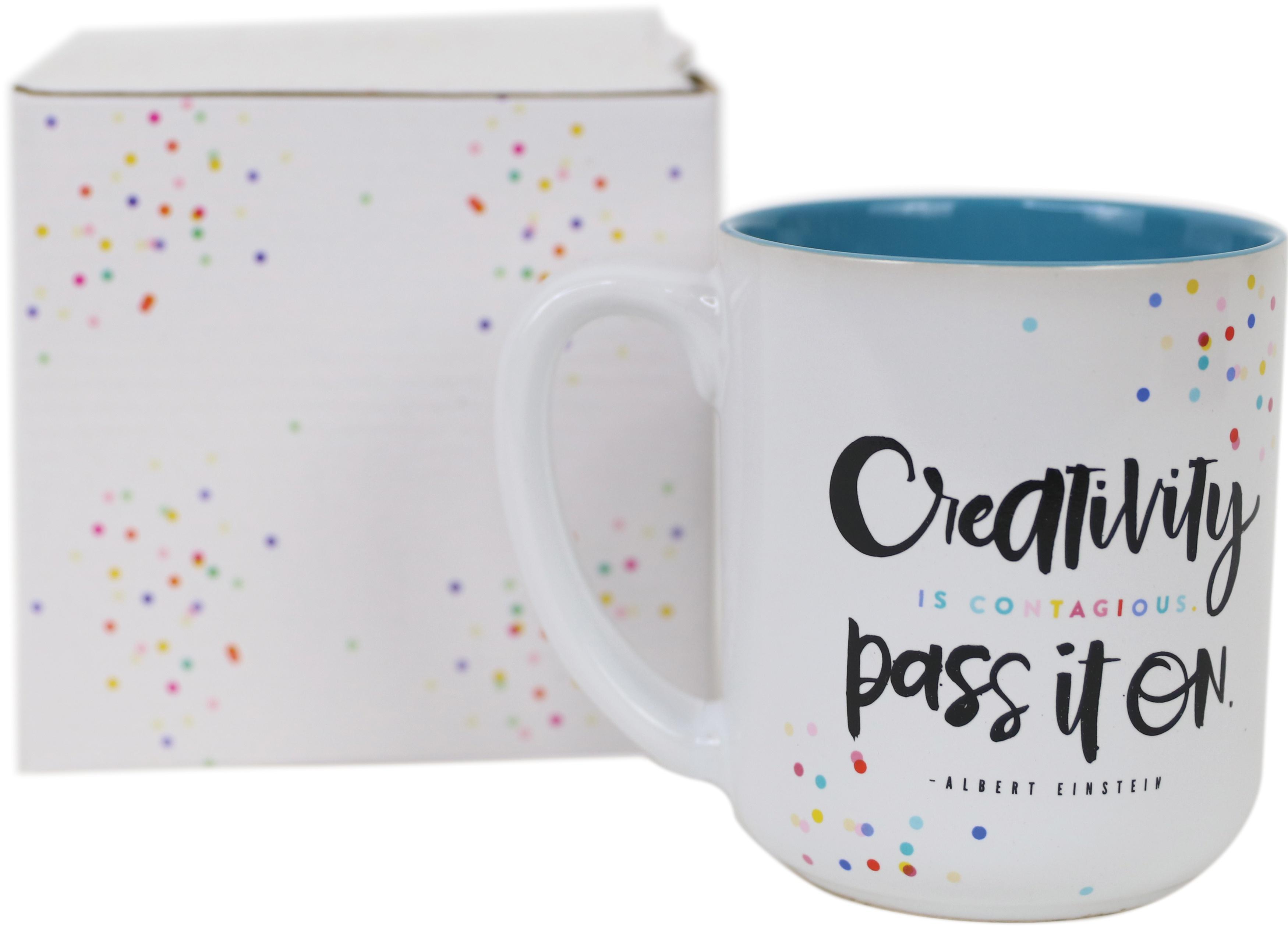 Happy Planner Ceramic Mug-White, Live Creatively