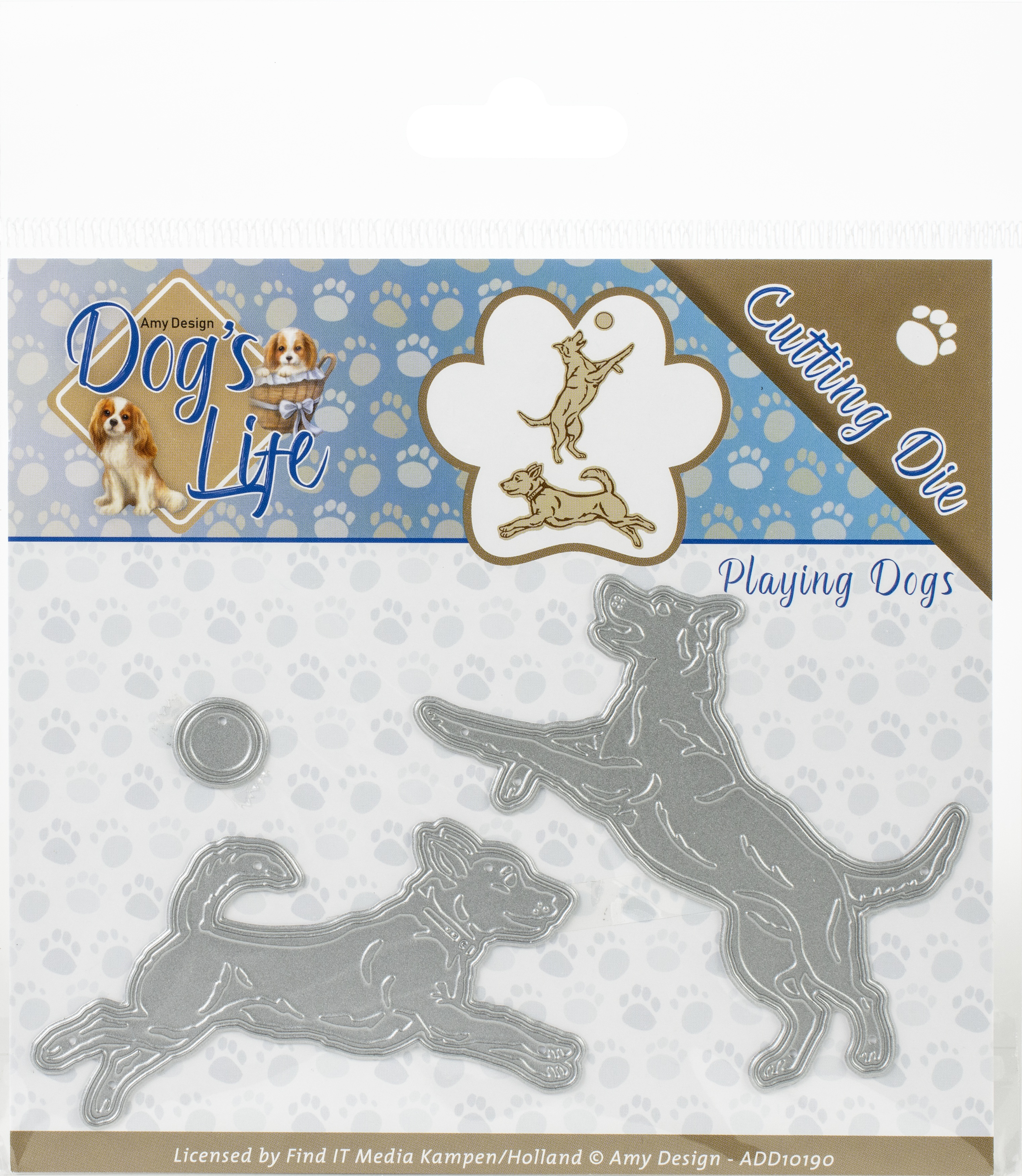Find It Trading Amy Design Dog's Life Die-Playing Dogs