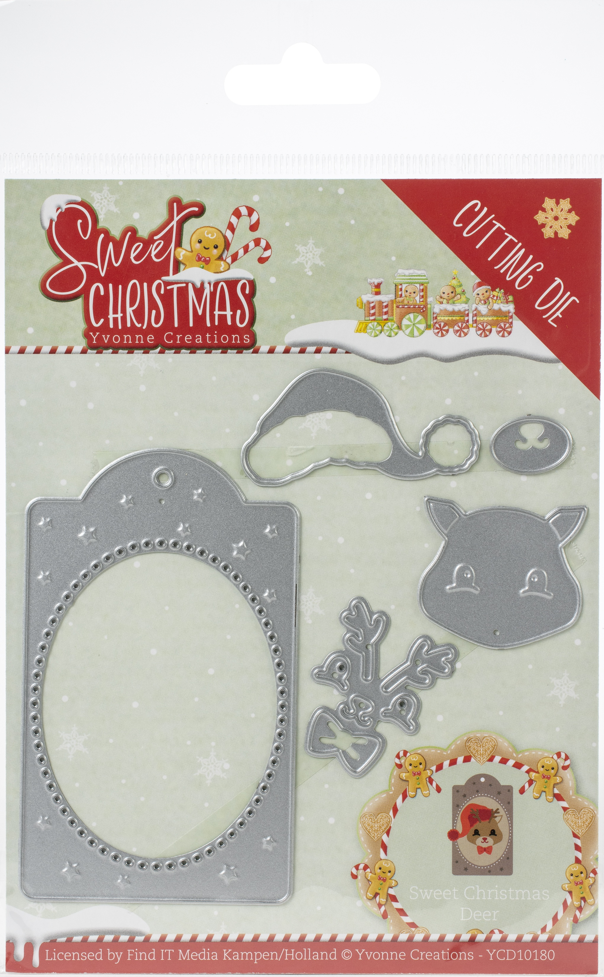 Find It Trading Yvonne Creations Die-Deer, Sweet Christmas