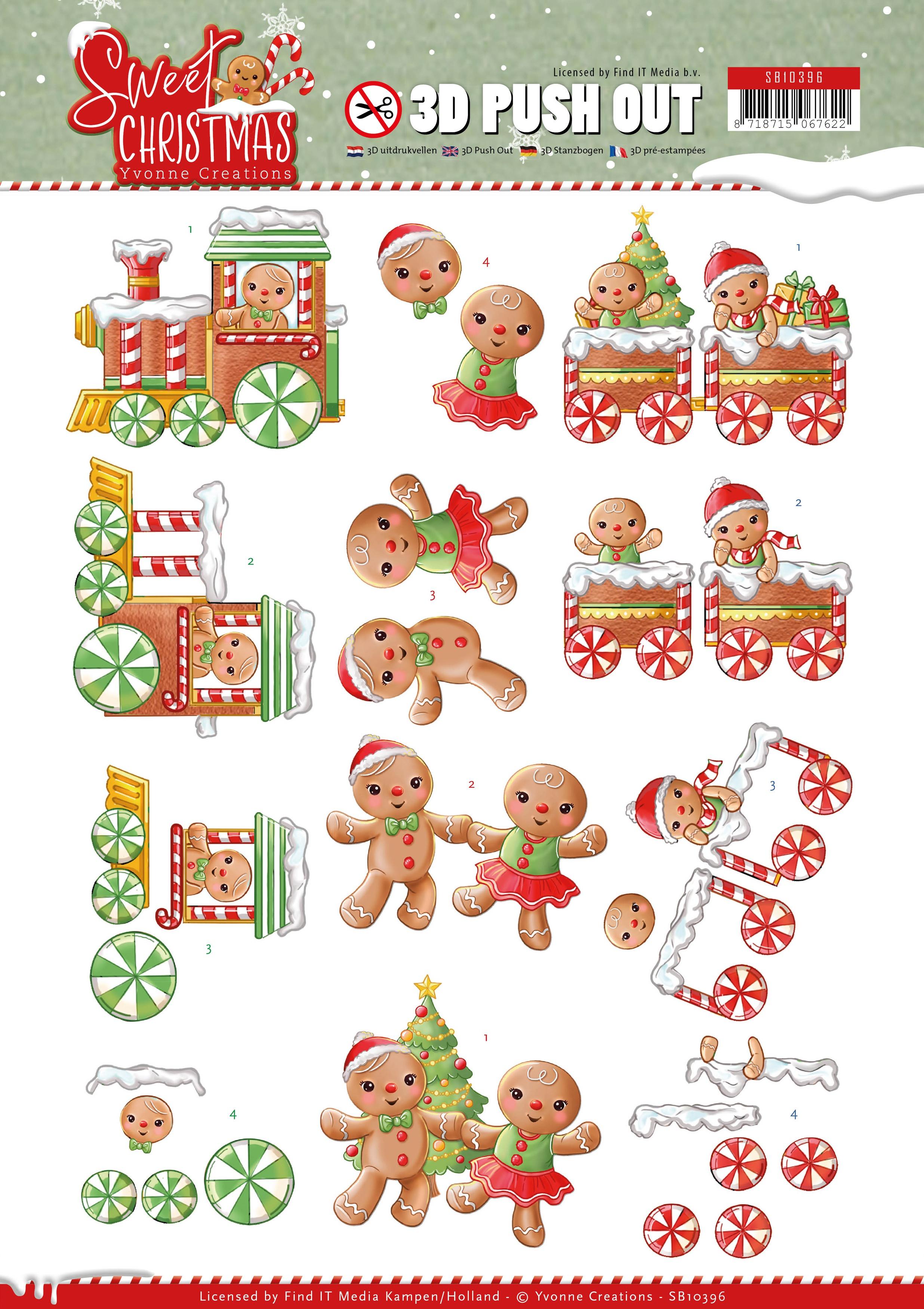 3D-Stanzbogen Sweet Christmas Yvonne Creations Cookies