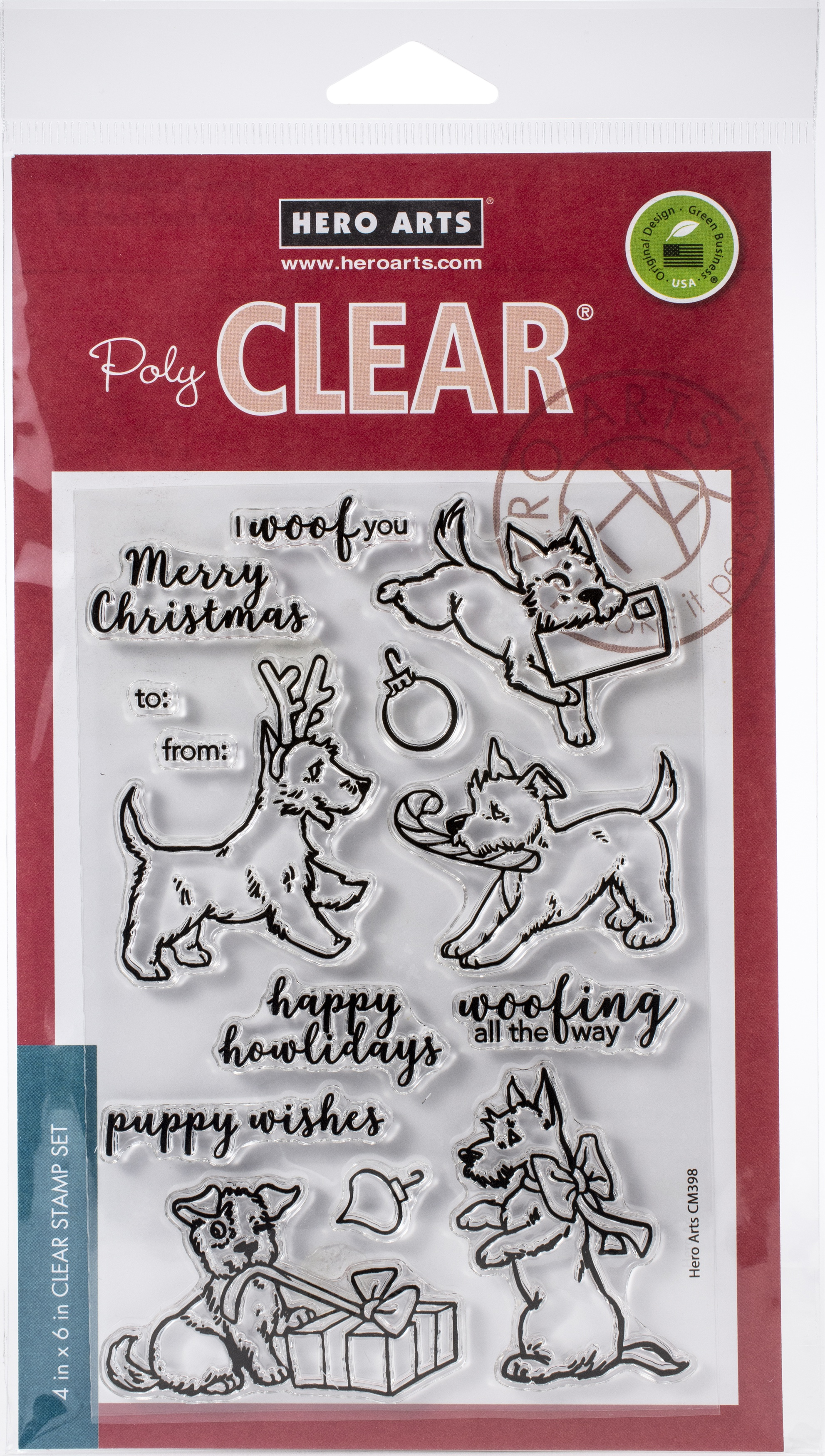 Merry Woof Stamps