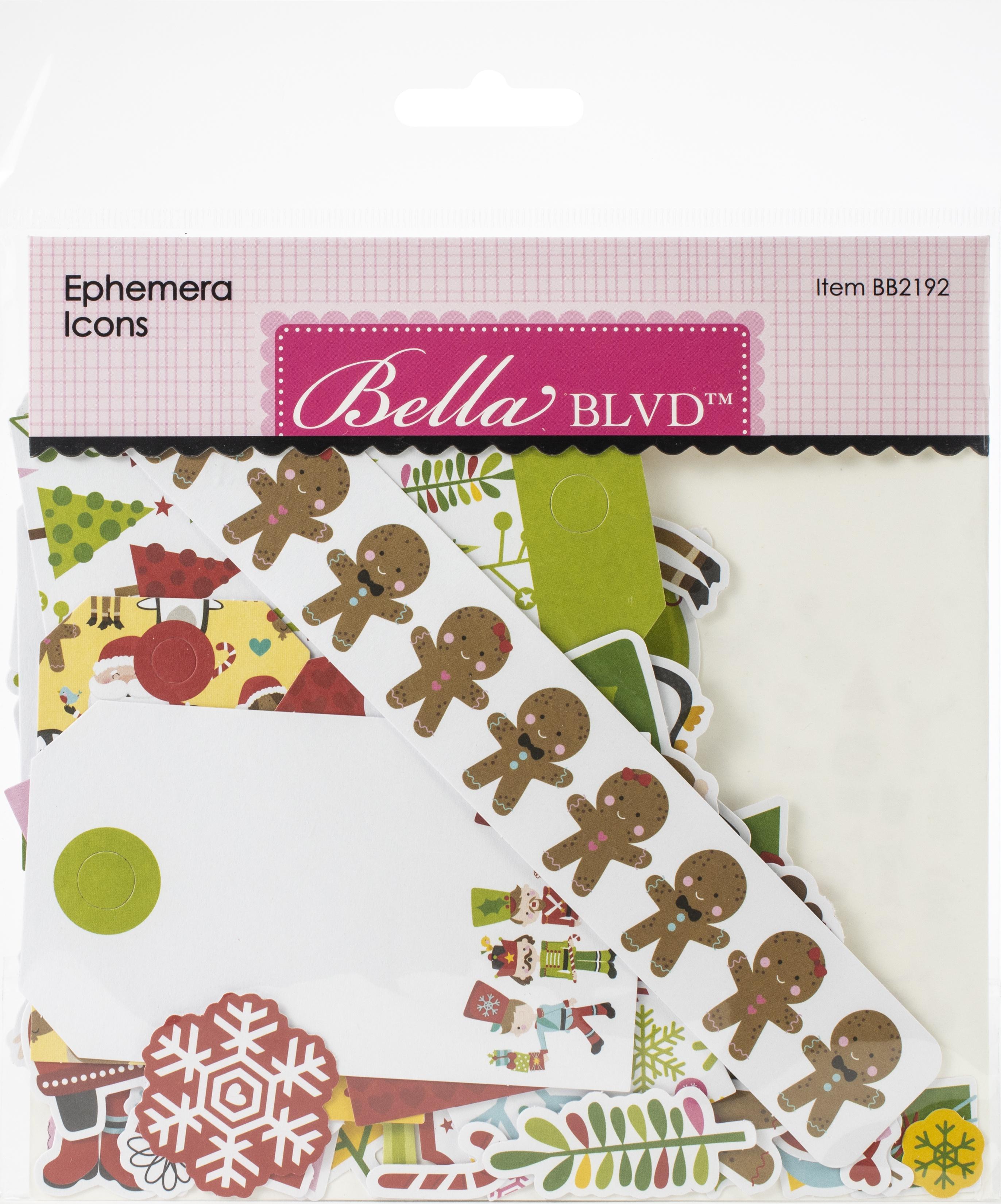 Bella Blvd Cardstock Ephemera-Icons, Santa Squad