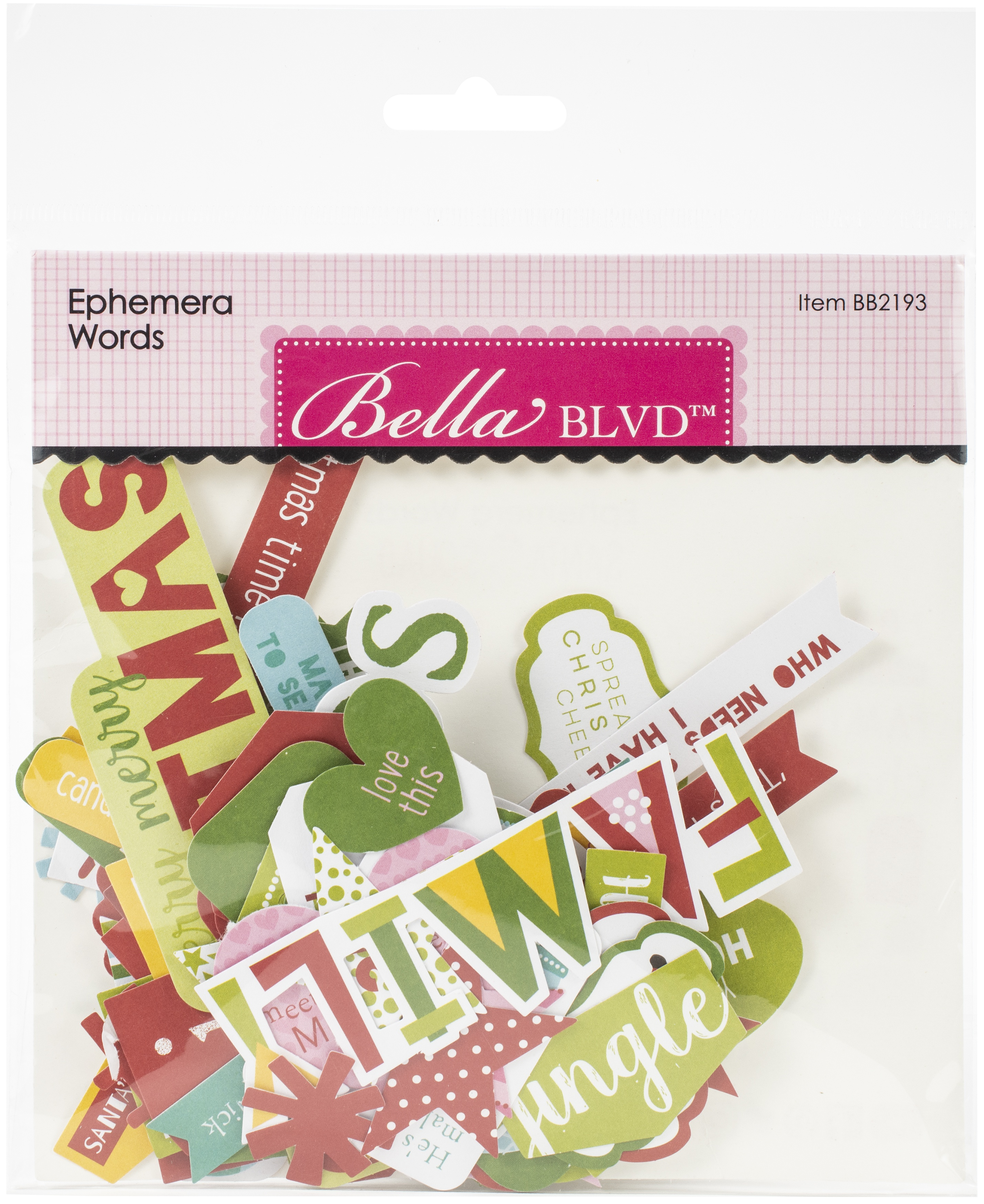 Bella Blvd Cardstock Ephemera-Words, Santa Squad