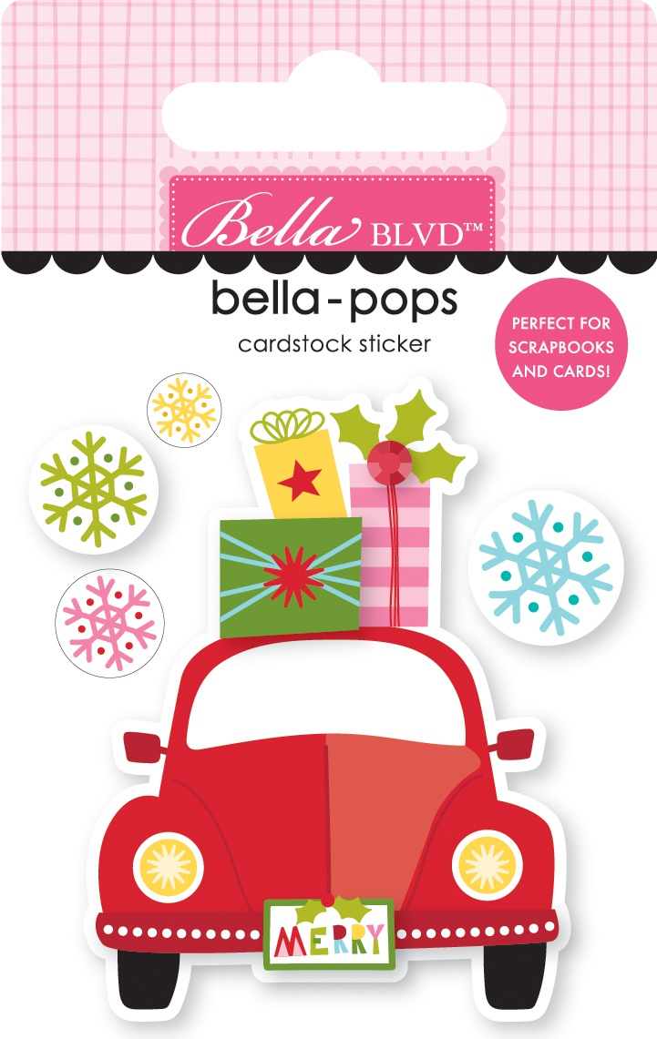 Bella Blvd Bella-Pops 3D Stickers- Home For Christmas