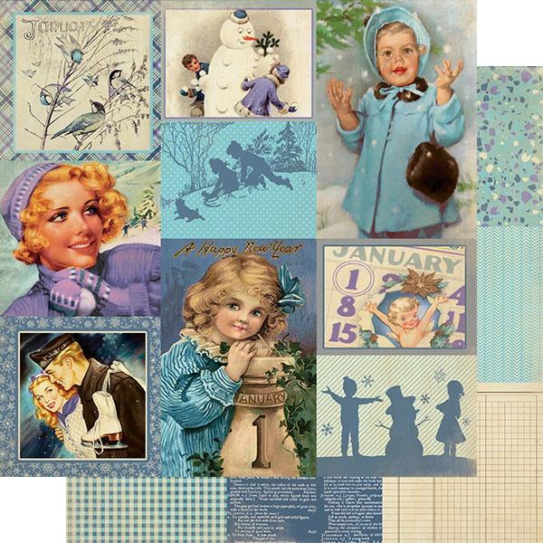 Authentique-Calendar January Images
