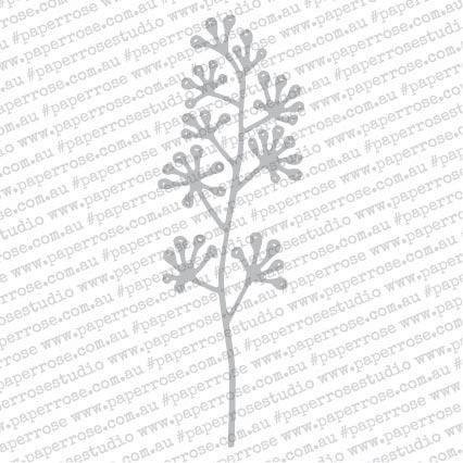 Paper Rose Dies-Blossom Branch