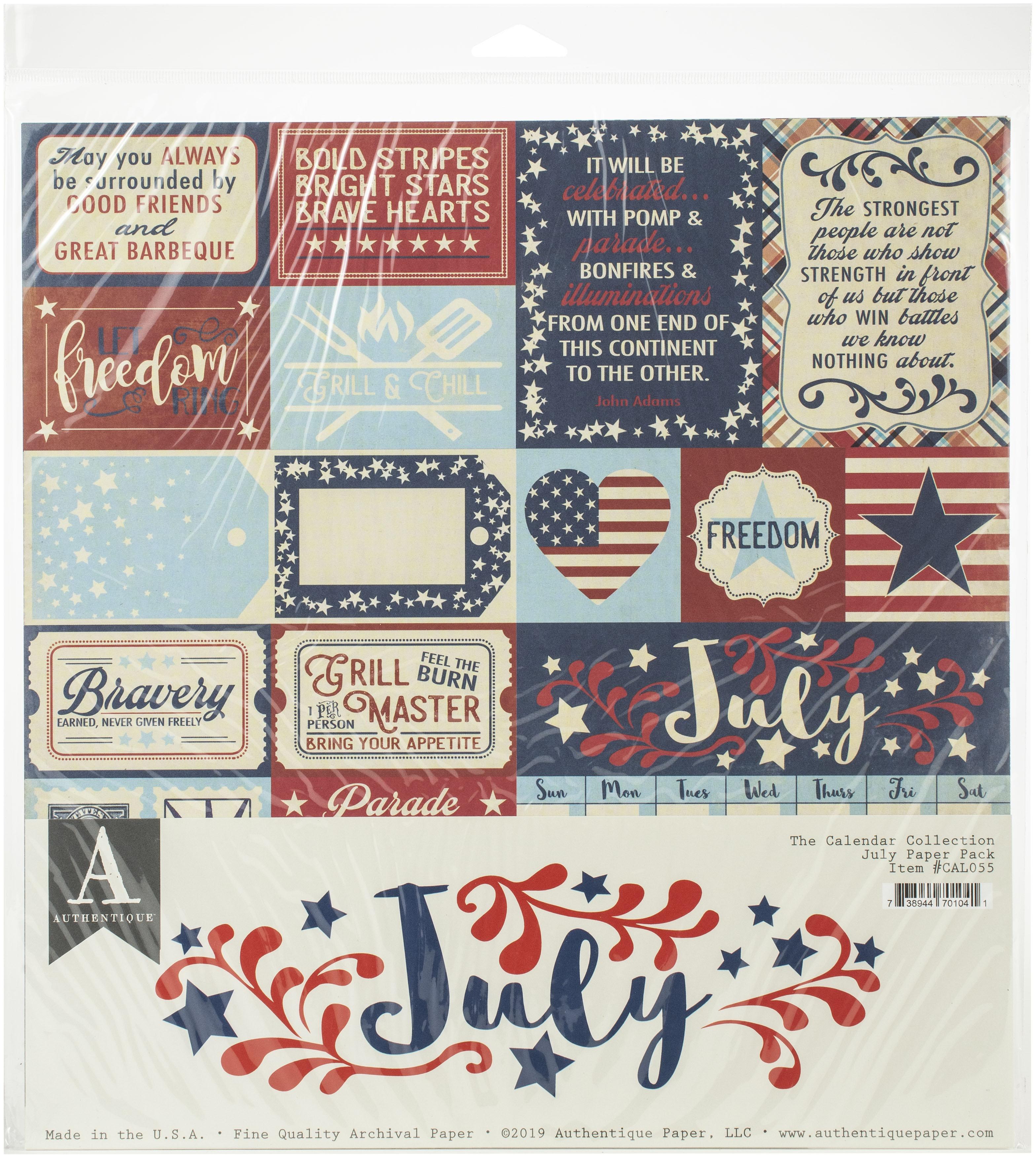 Authentique July Paper Pk