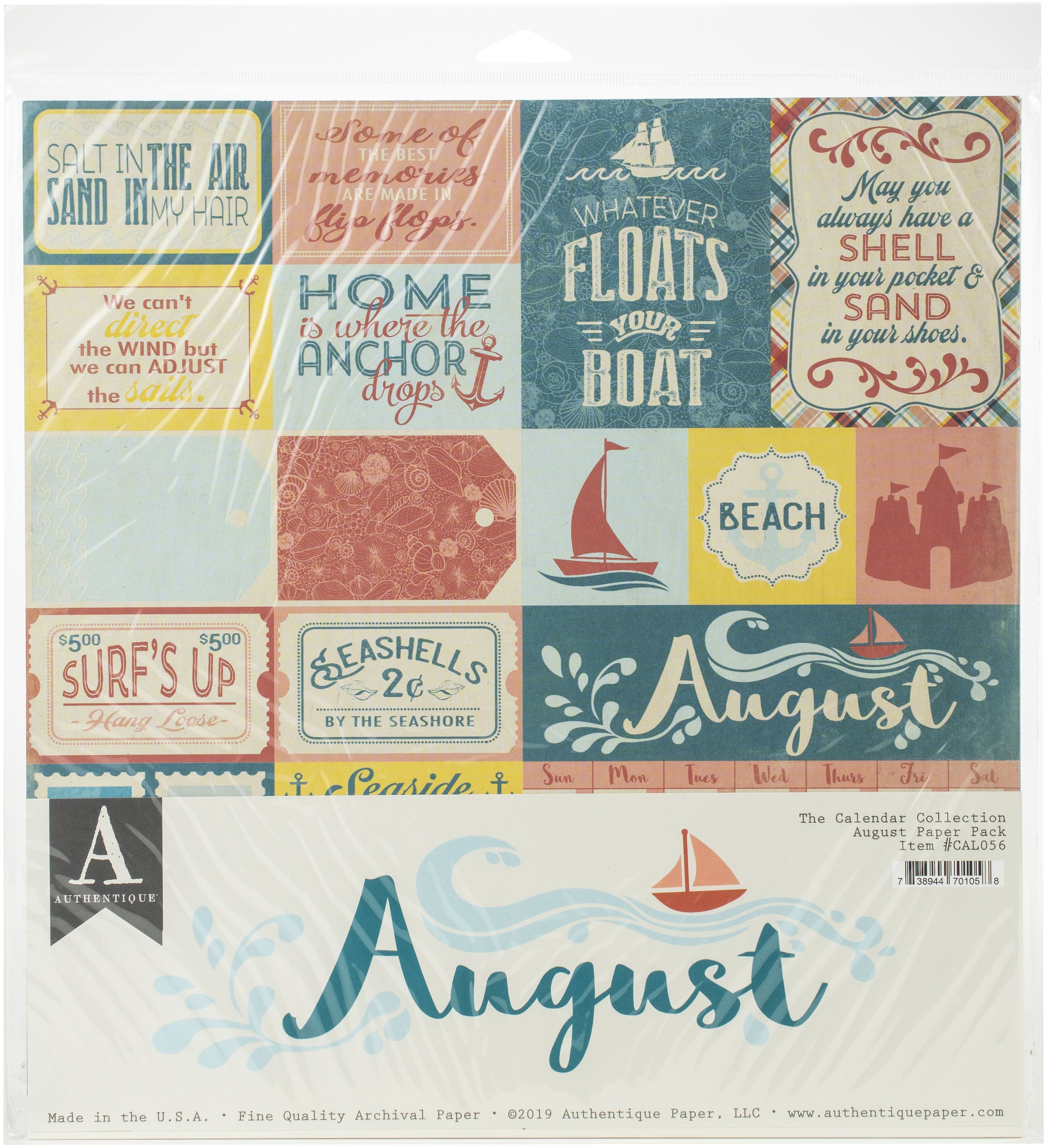 Authentique August Paper Pk