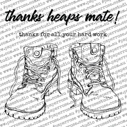 Work Boots Stamp Set
