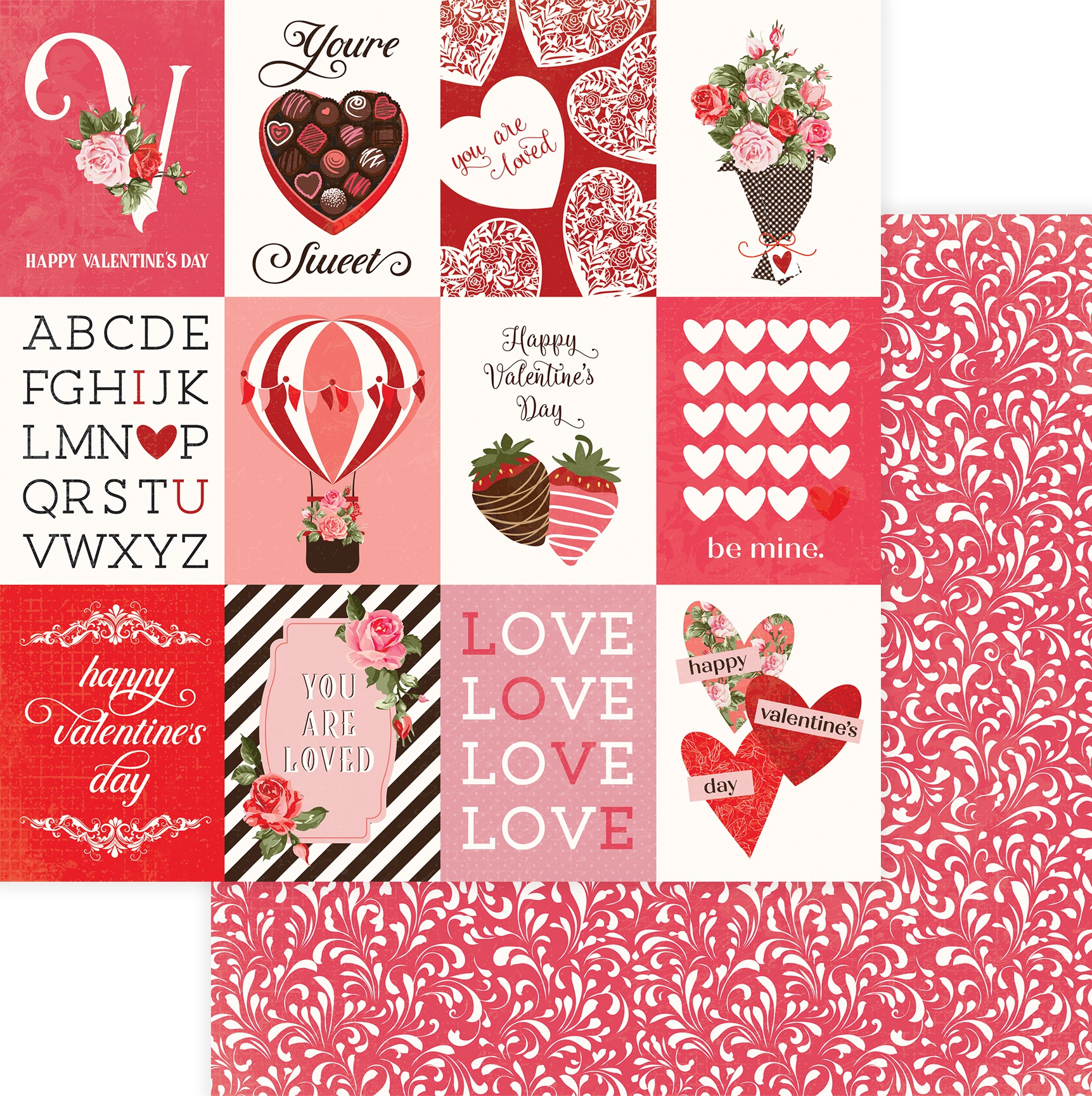 Be Mine Double-Sided Cardstock 12X12-You're Sweet