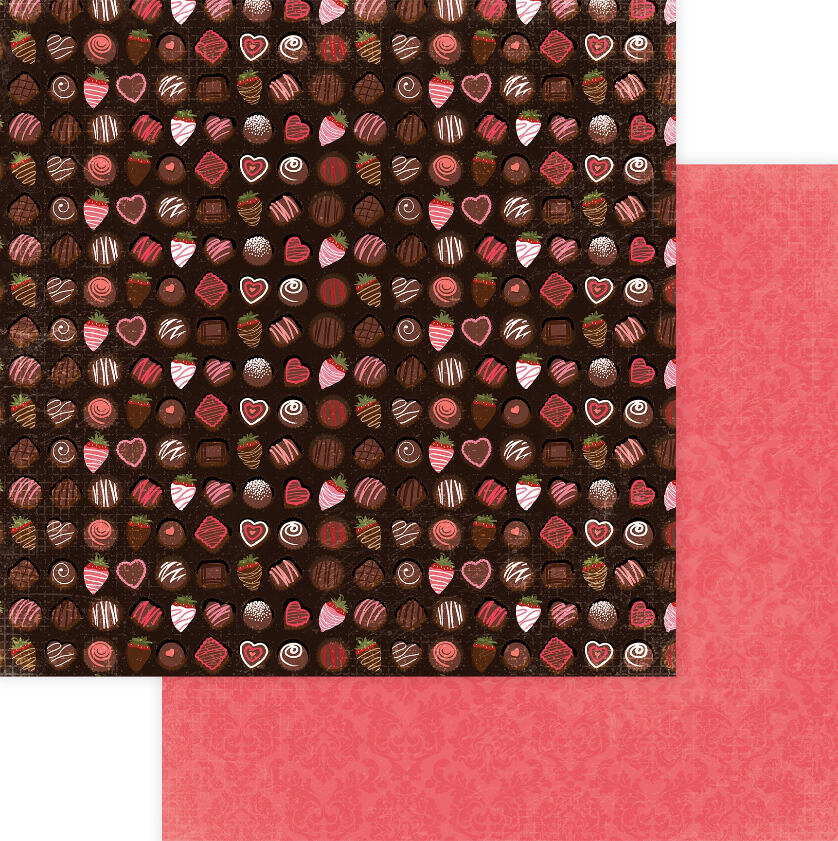 Be Mine Double-Sided Cardstock 12X12-Box Of Chocolates