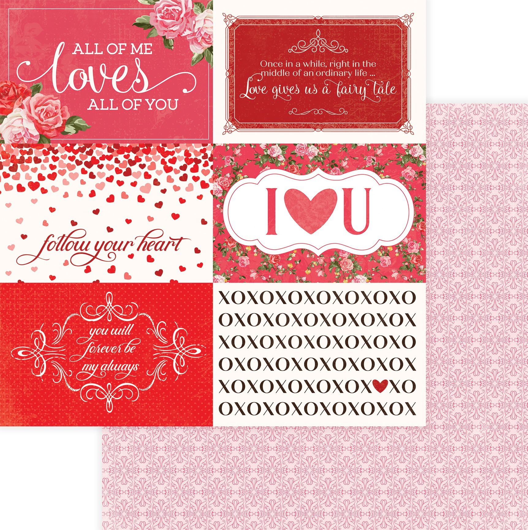 Be Mine Double-Sided Cardstock 12X12-Follow Your Heart