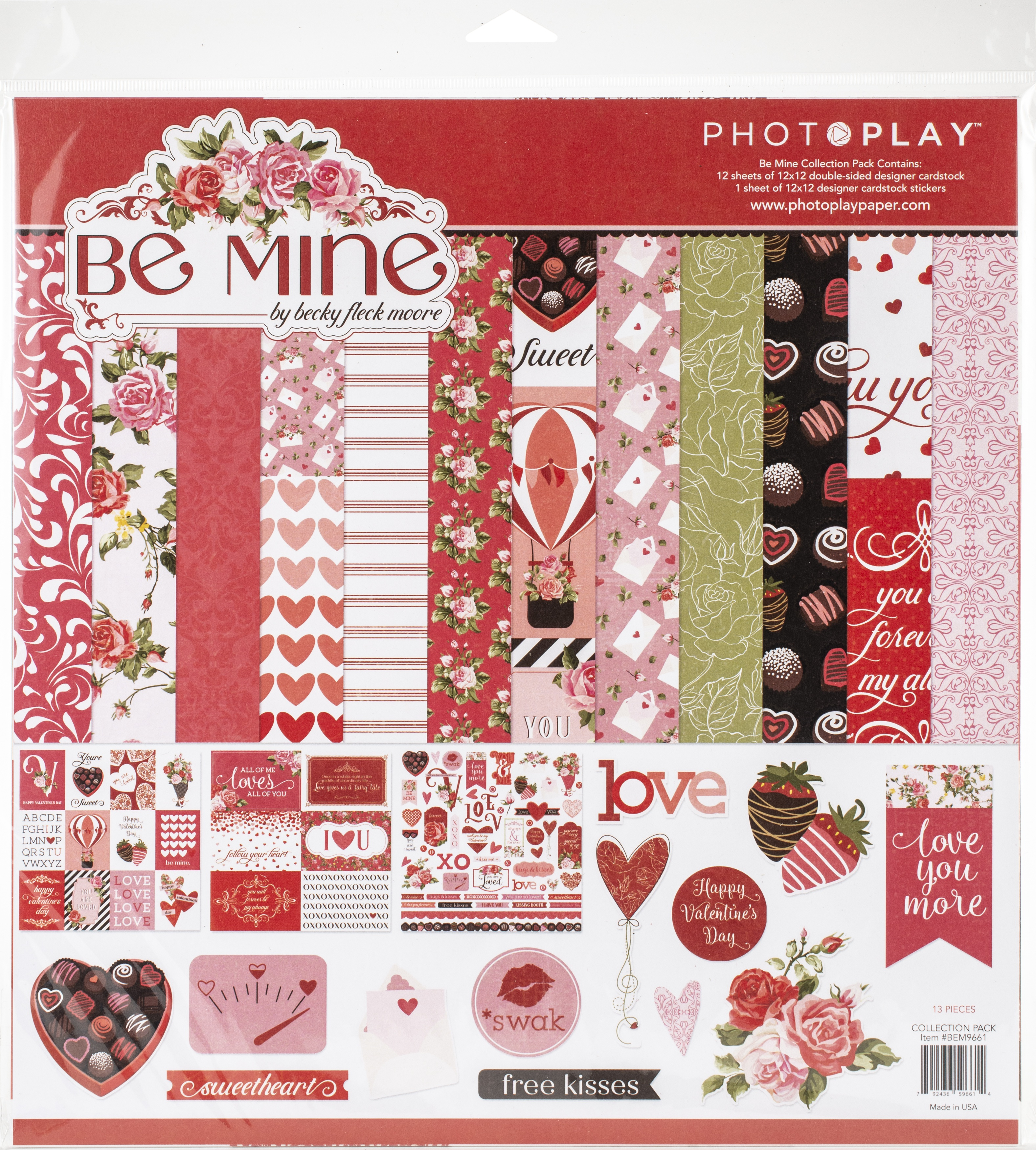 PhotoPlay Collection Pack 12X12-Be Mine