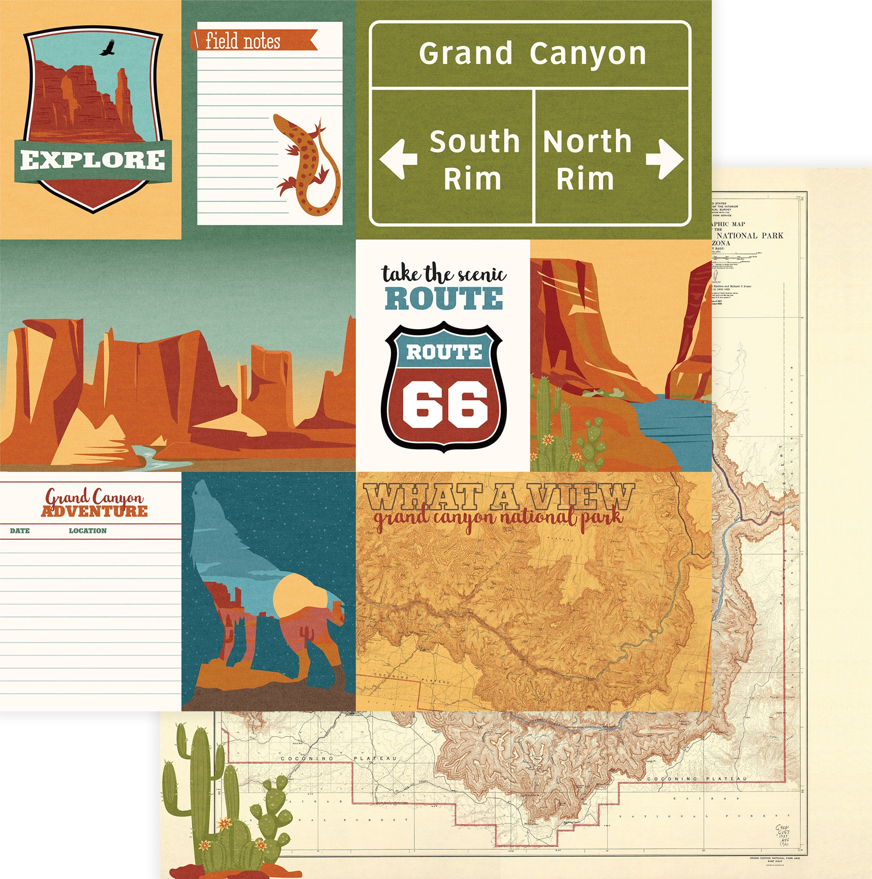 National Parks Grand Canyon Double-Sided Cardstock 12X12-What A View