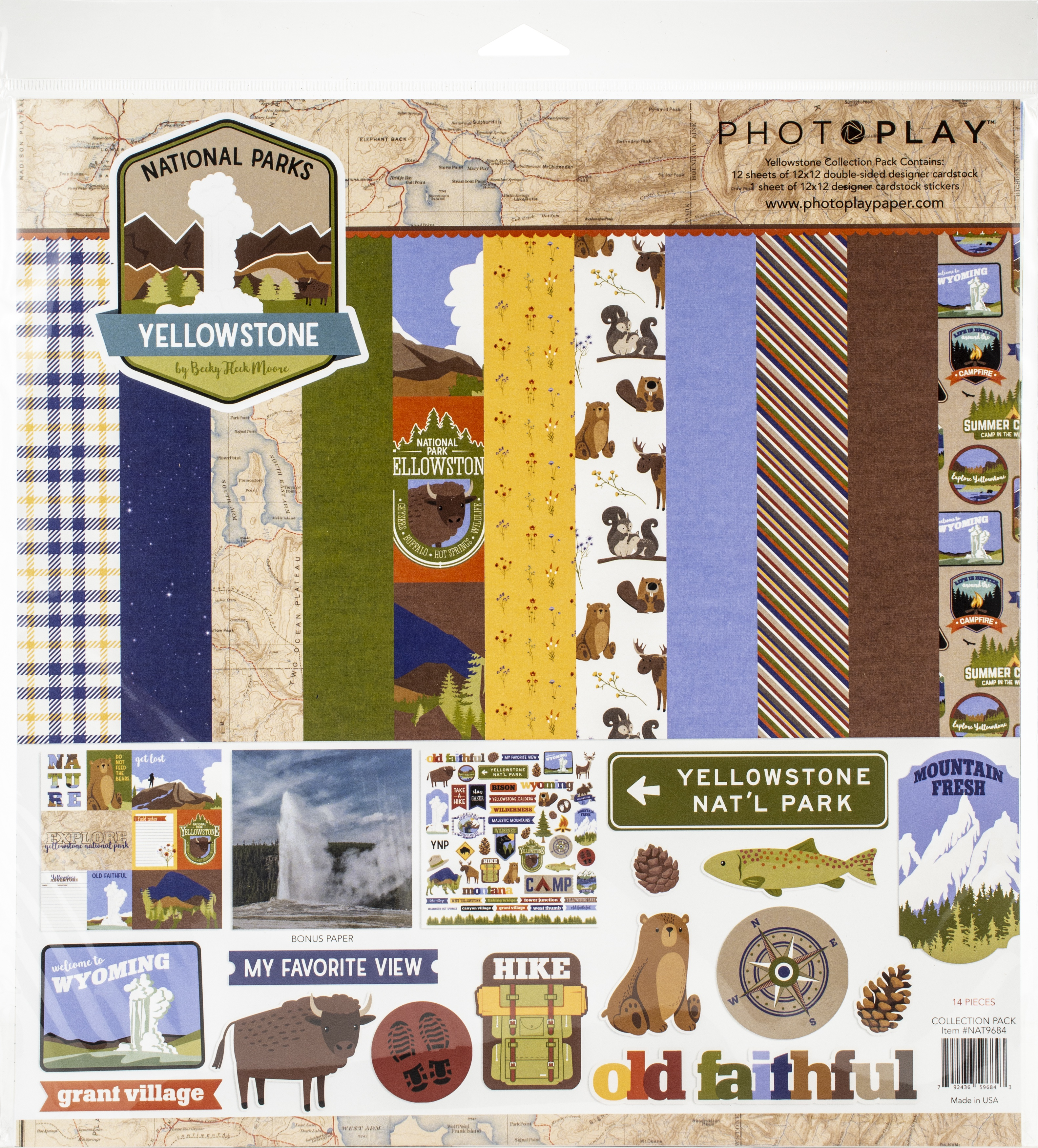 PhotoPlay Collection Pack 12X12-National Parks Yellowstone