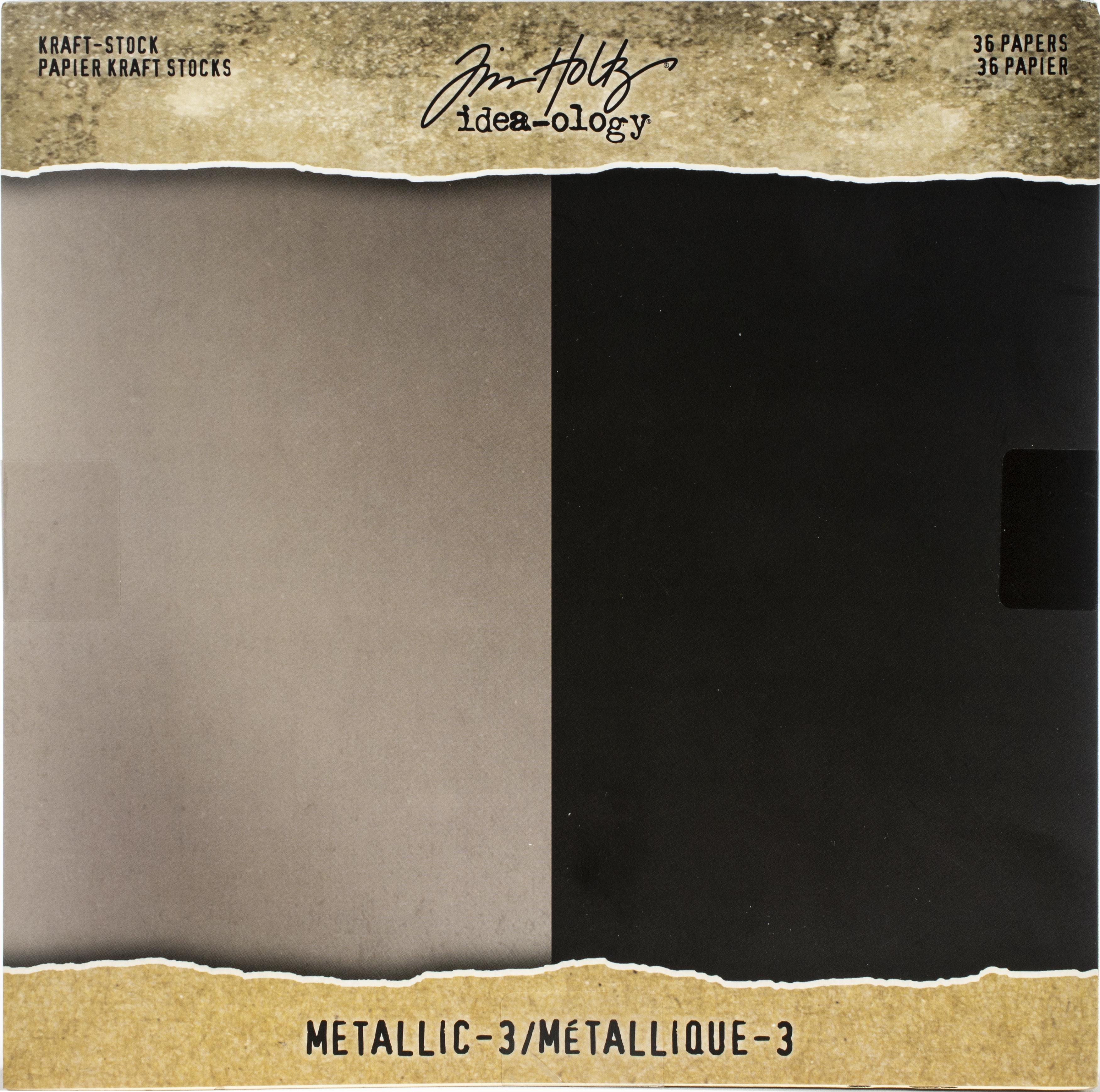 Idea-Ology Paper Stash Kraft Metallic Paper Pad 8X8 36/Pkg-Metallic 3