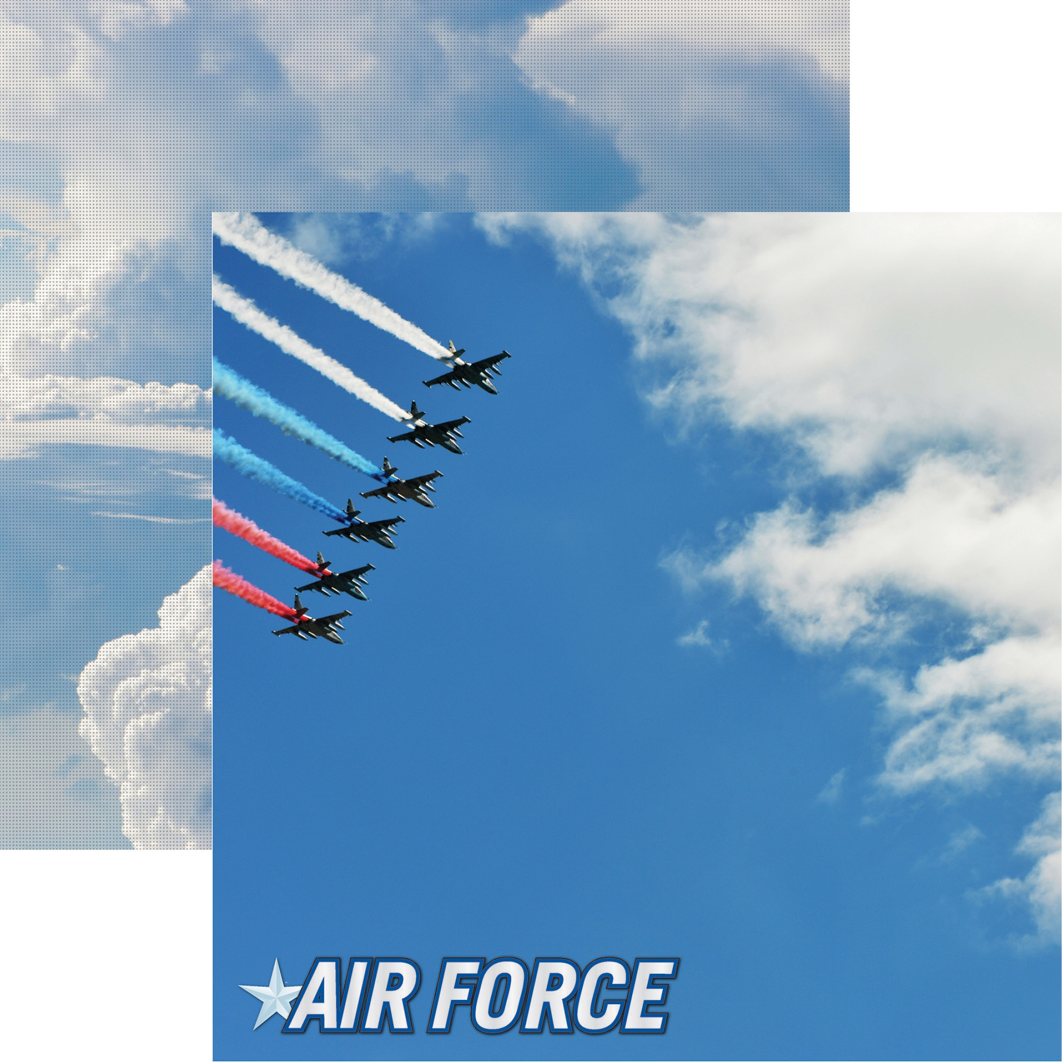 Air Force Double-Sided Cardstock 12X12-#1