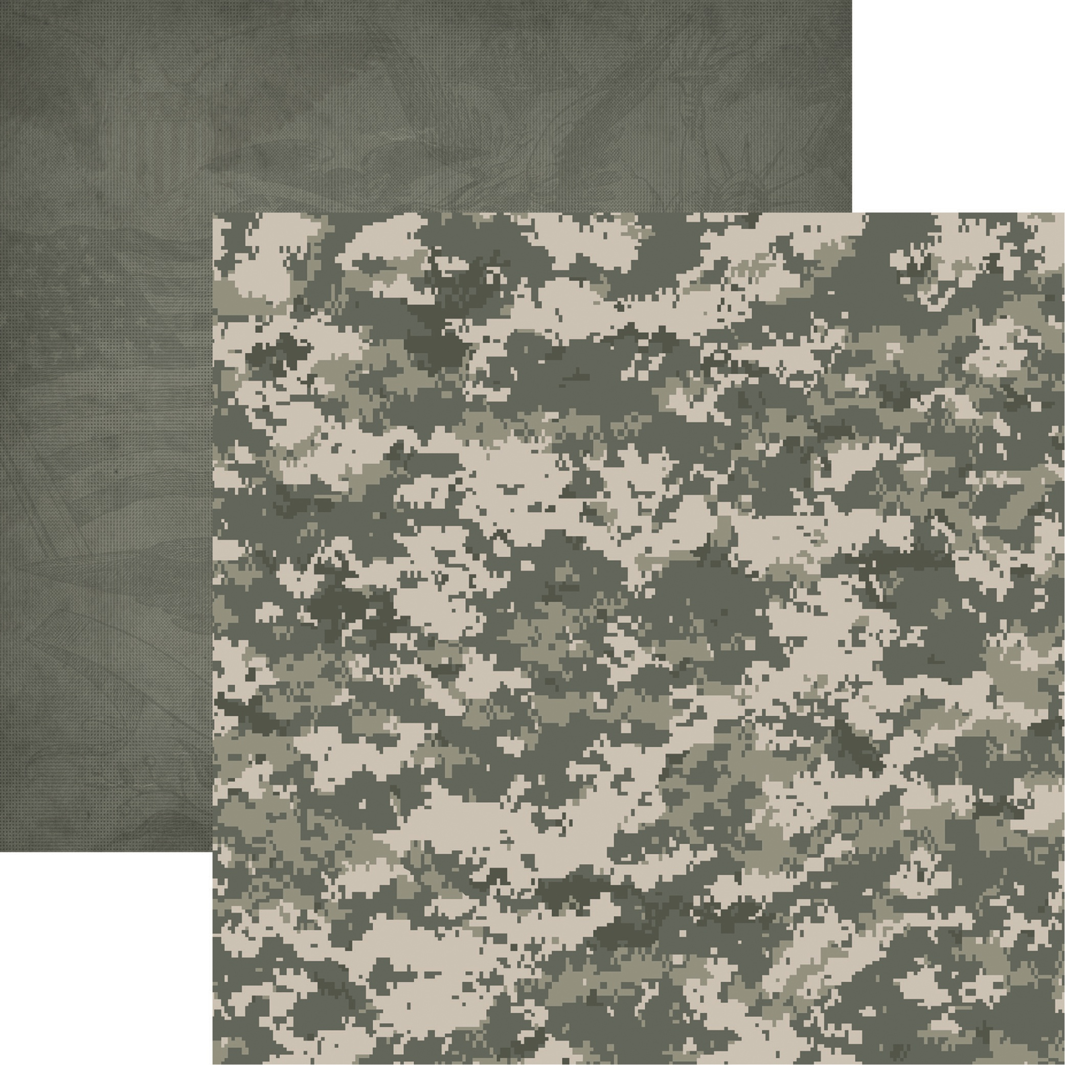 Army Double-Sided Cardstock 12X12-Army Camo