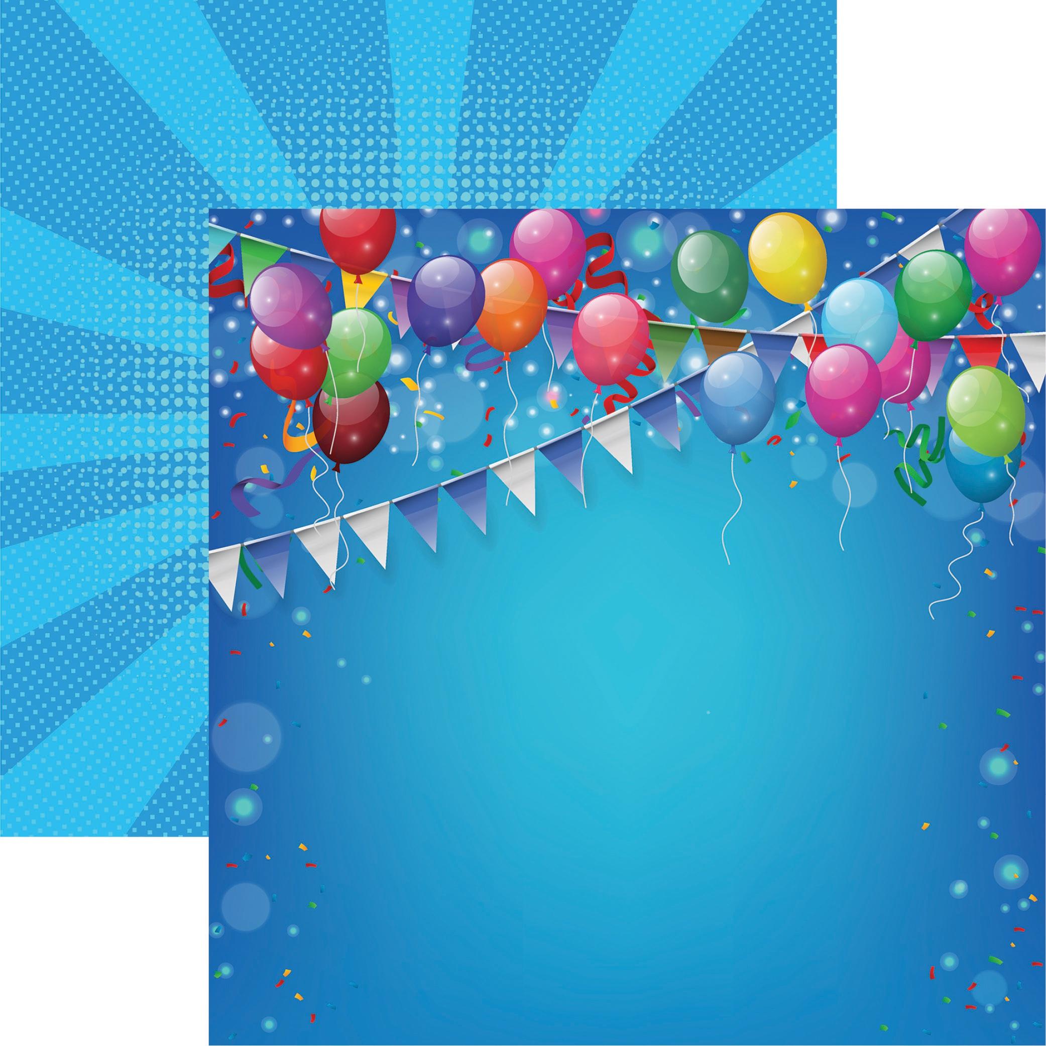 Birthday Bash Double-Sided Cardstock 12X12-Birthday Bash