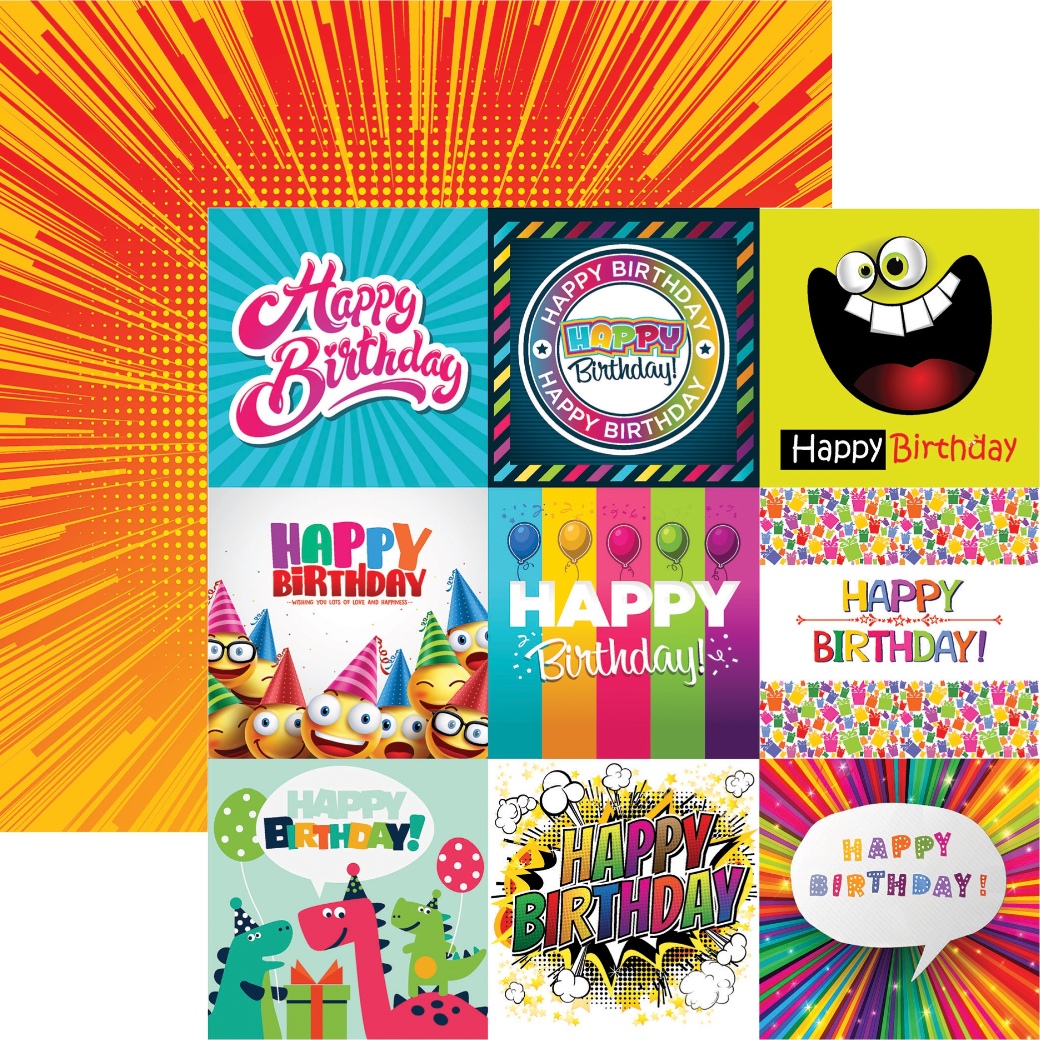 Birthday Bash Double-Sided Cardstock 12X12-Happy Birthday