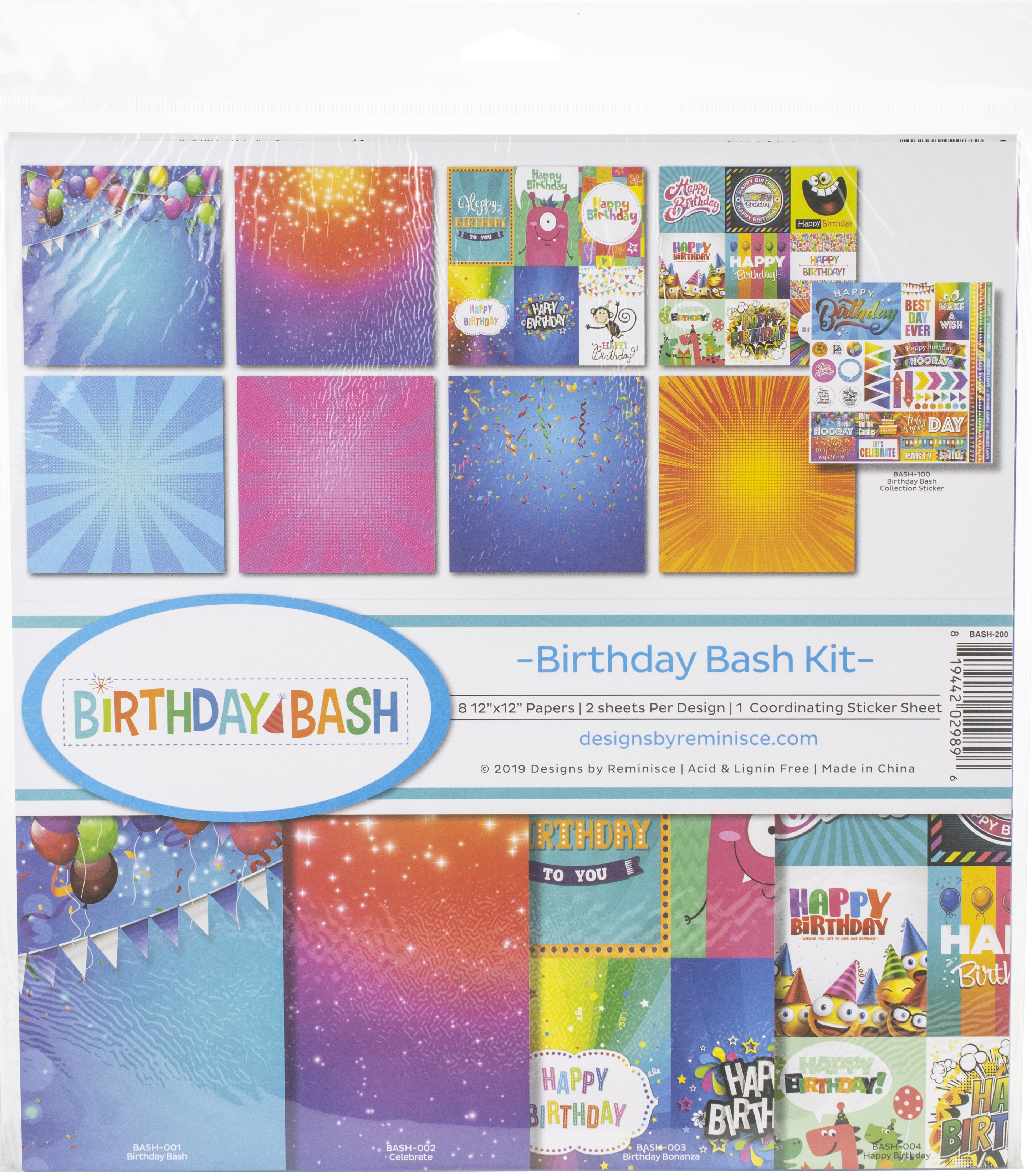 Reminisce Collection Kit 12X12-Birthday Bash