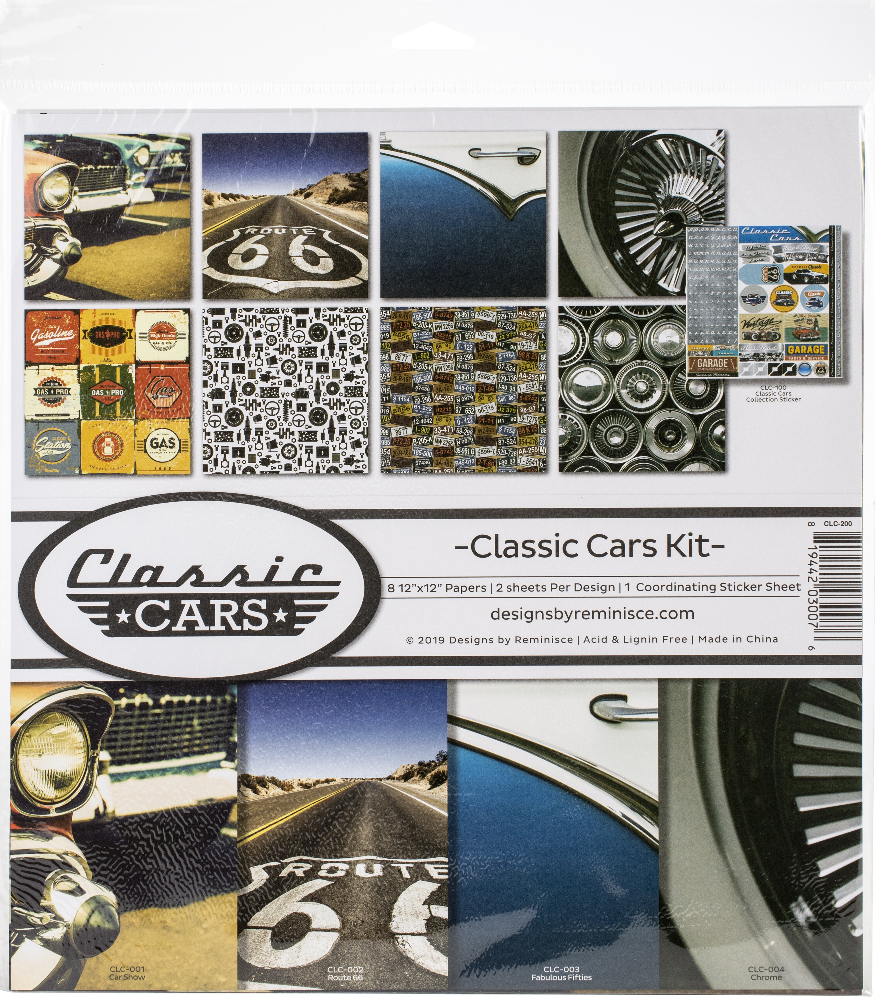 Reminisce Collection Kit 12X12-Classic Cars