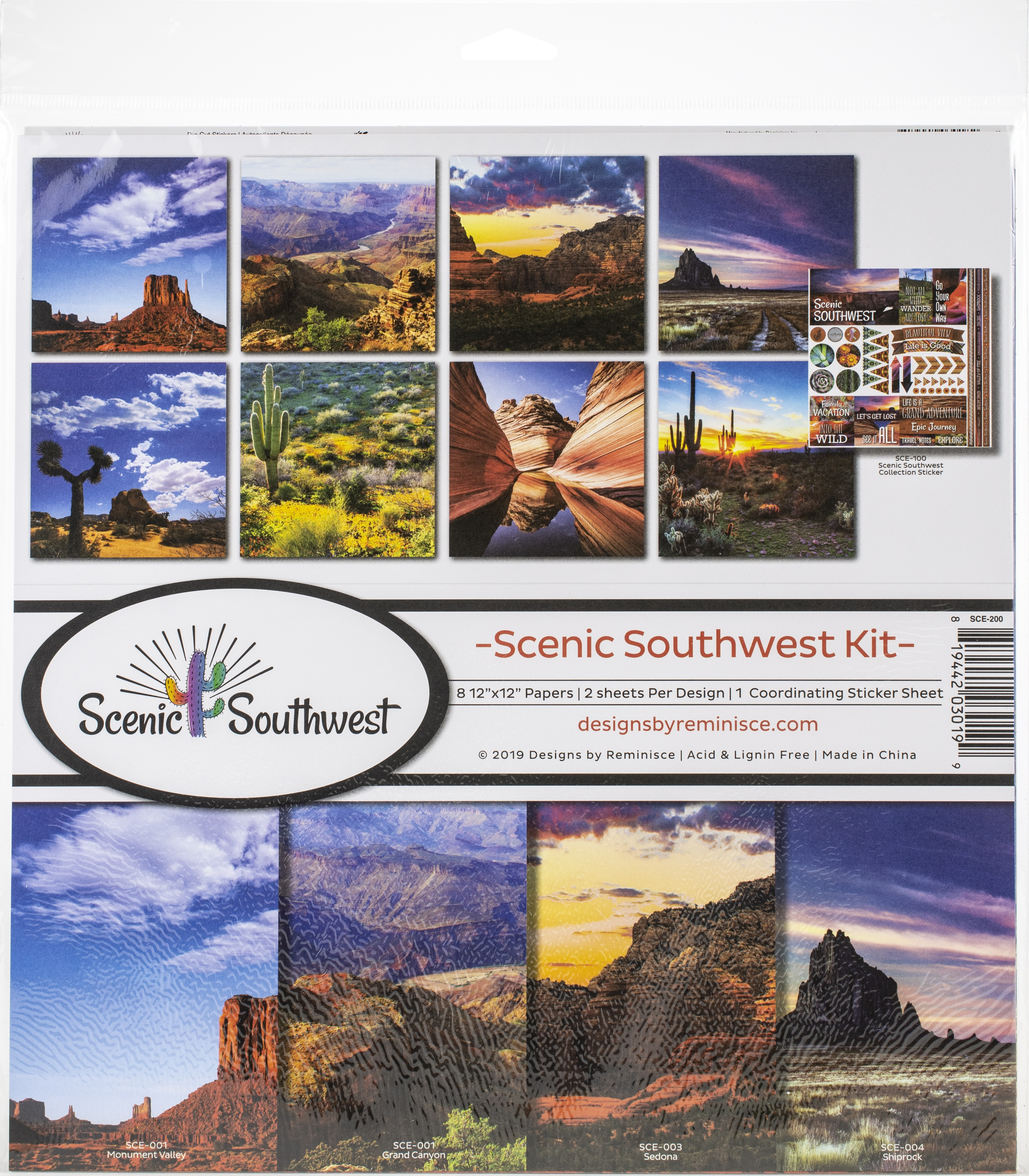 Reminisce Collection Kit 12X12-Scenic Southwest