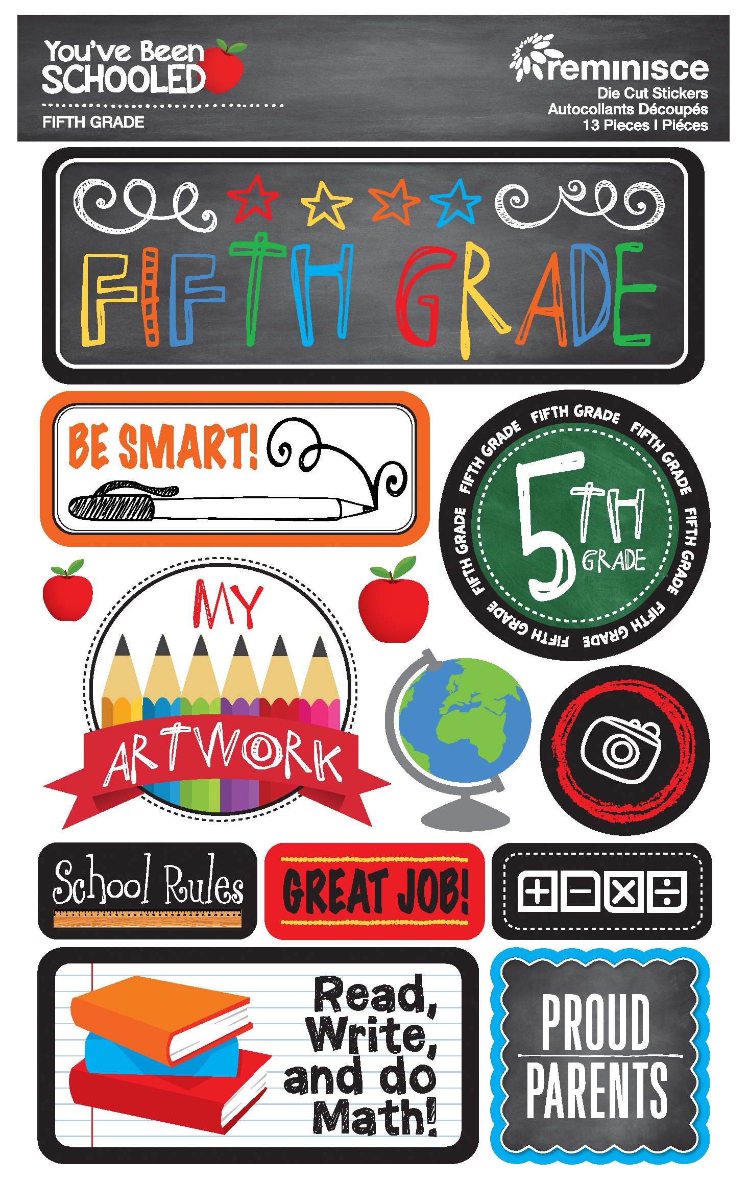 Reminisce You've Been Schooled -  5th Grade 3D Dimensional Stickers