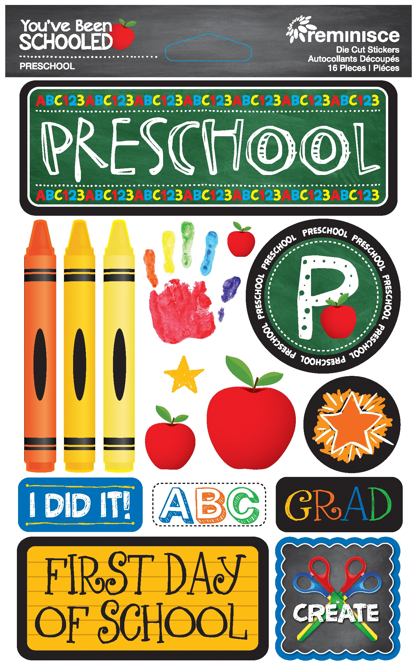 Reminisce You've Been Schooled - Preschool 3D Dimensional Stickers