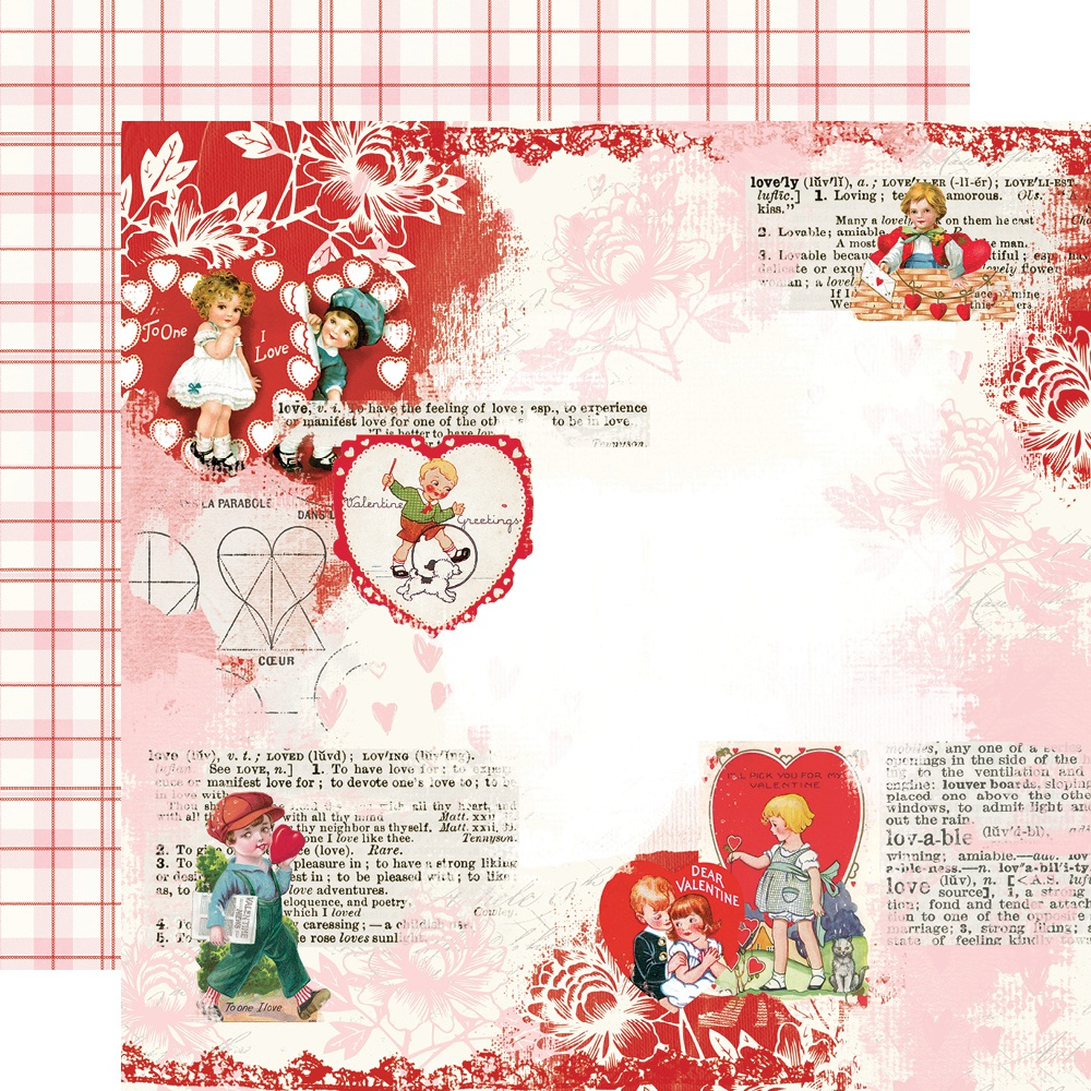 Simple Vintage My Valentine Double-Sided Cardstock 12X12-Love You