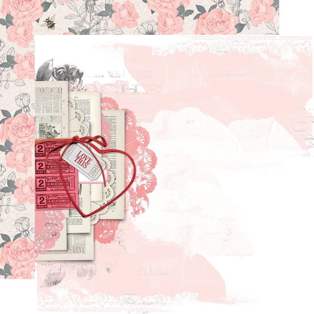 Simple Vintage My Valentine Double-Sided Cardstock 12x12 - Just A Crush