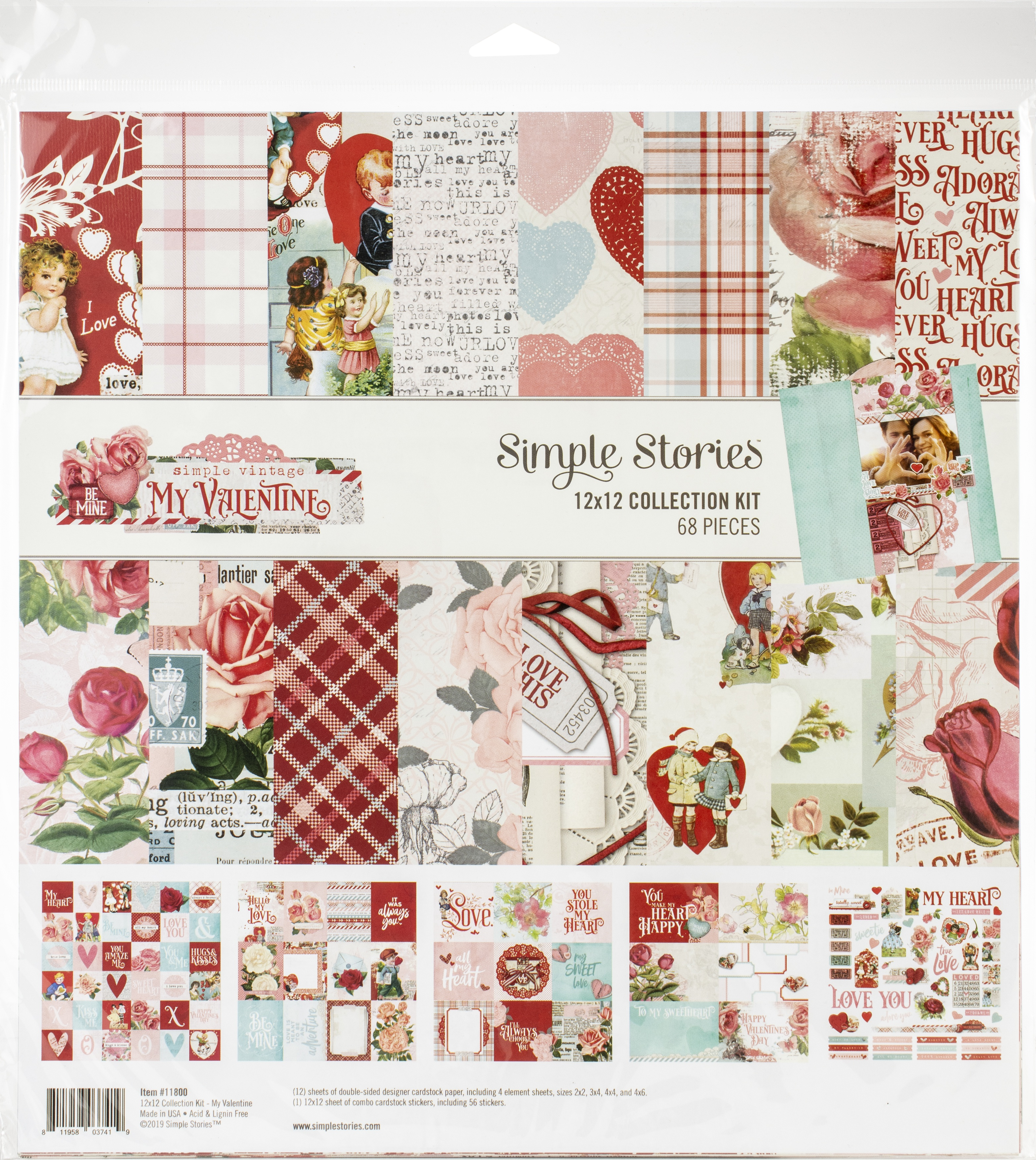 Simple Stories Collection Kit 12X12-Simple Vintage My Valentine