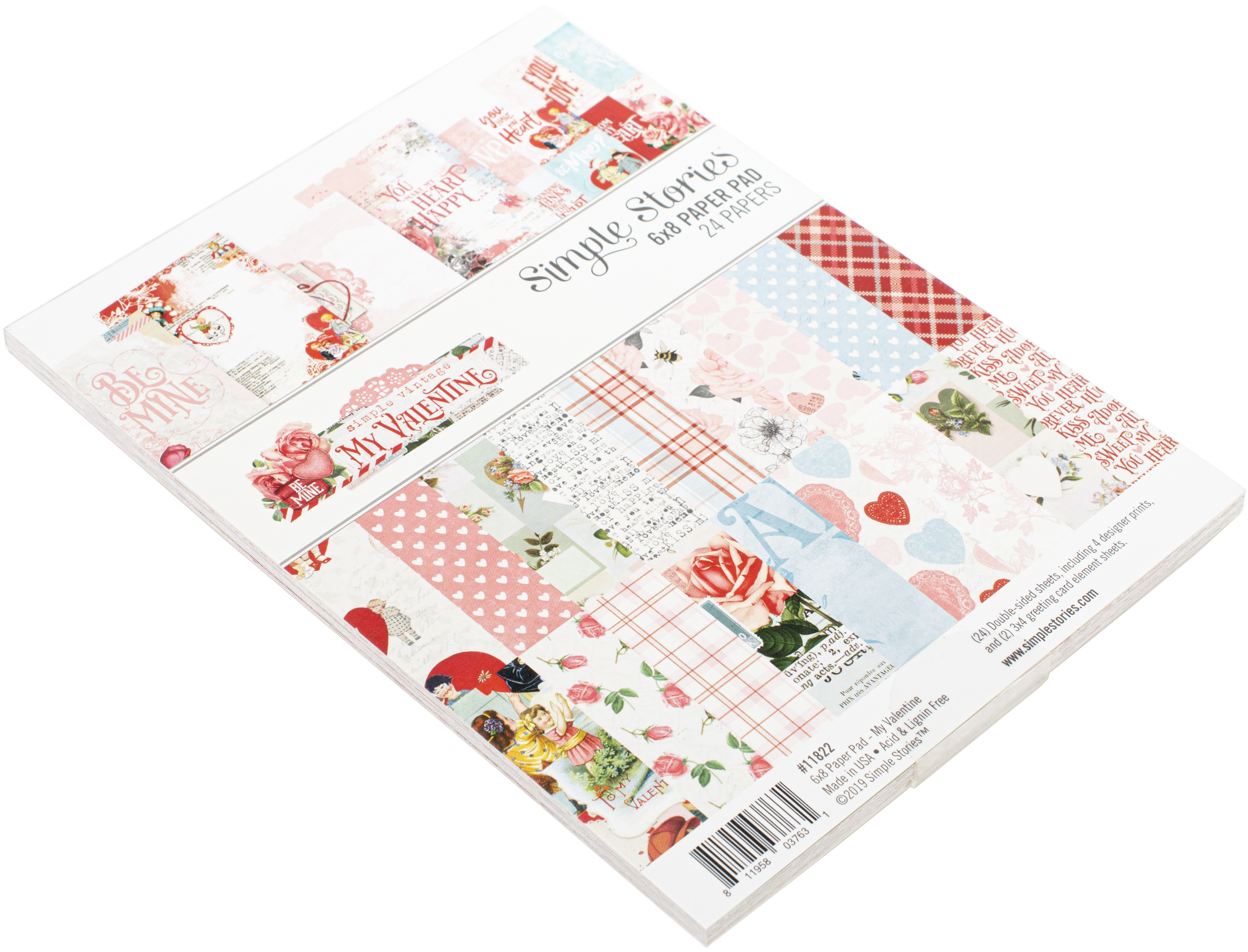 Simple Stories Double-Sided Paper Pad 6X8 24/Pkg-Simple Vintage My Valentine, ...