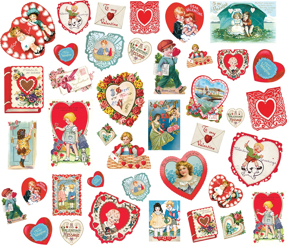 Simple Vintage My Valentine Card Ephemera 40/Pkg-