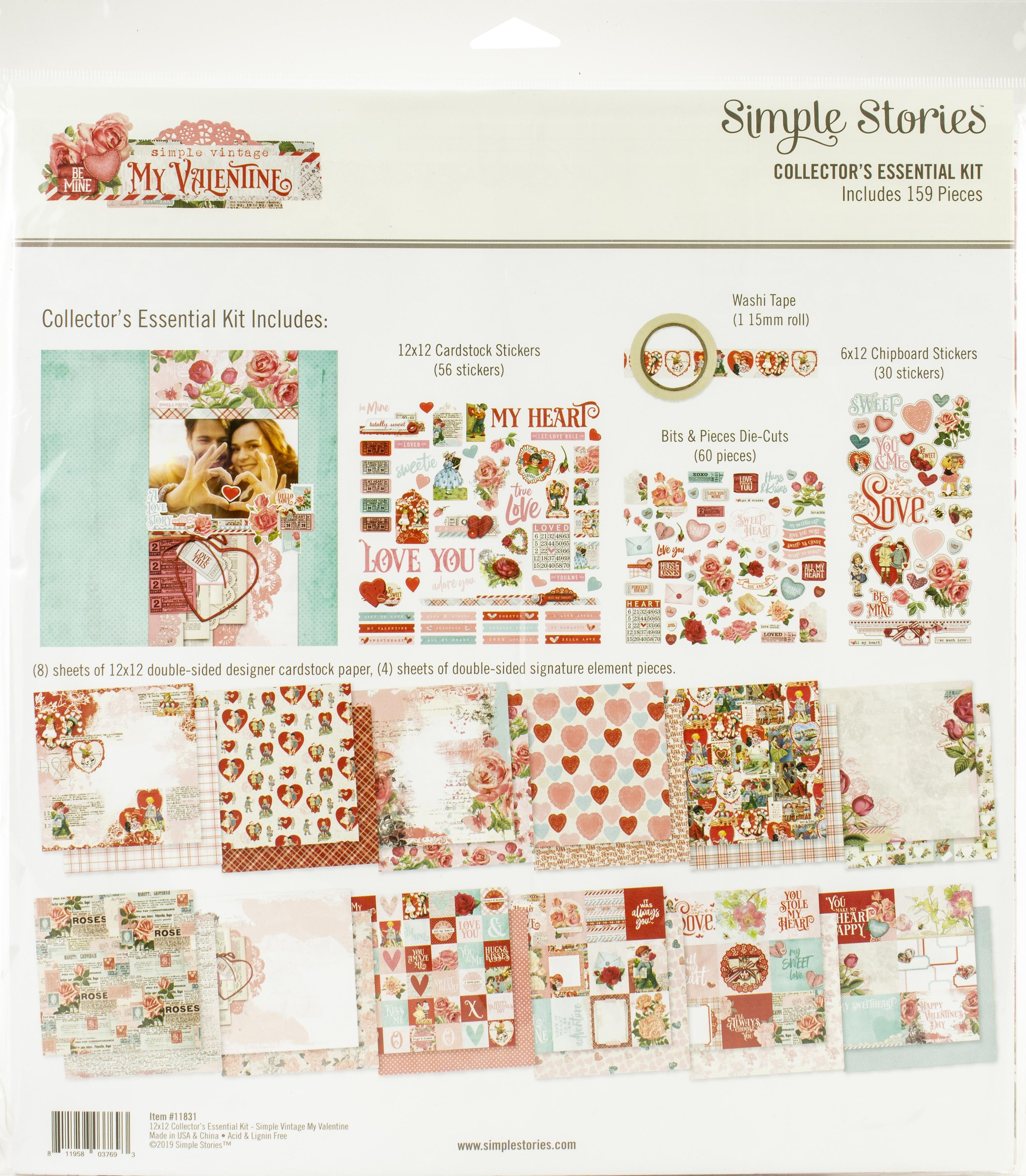 Simple Stories Collector's Essential Kit 12X12-Simple Vintage My Valentine