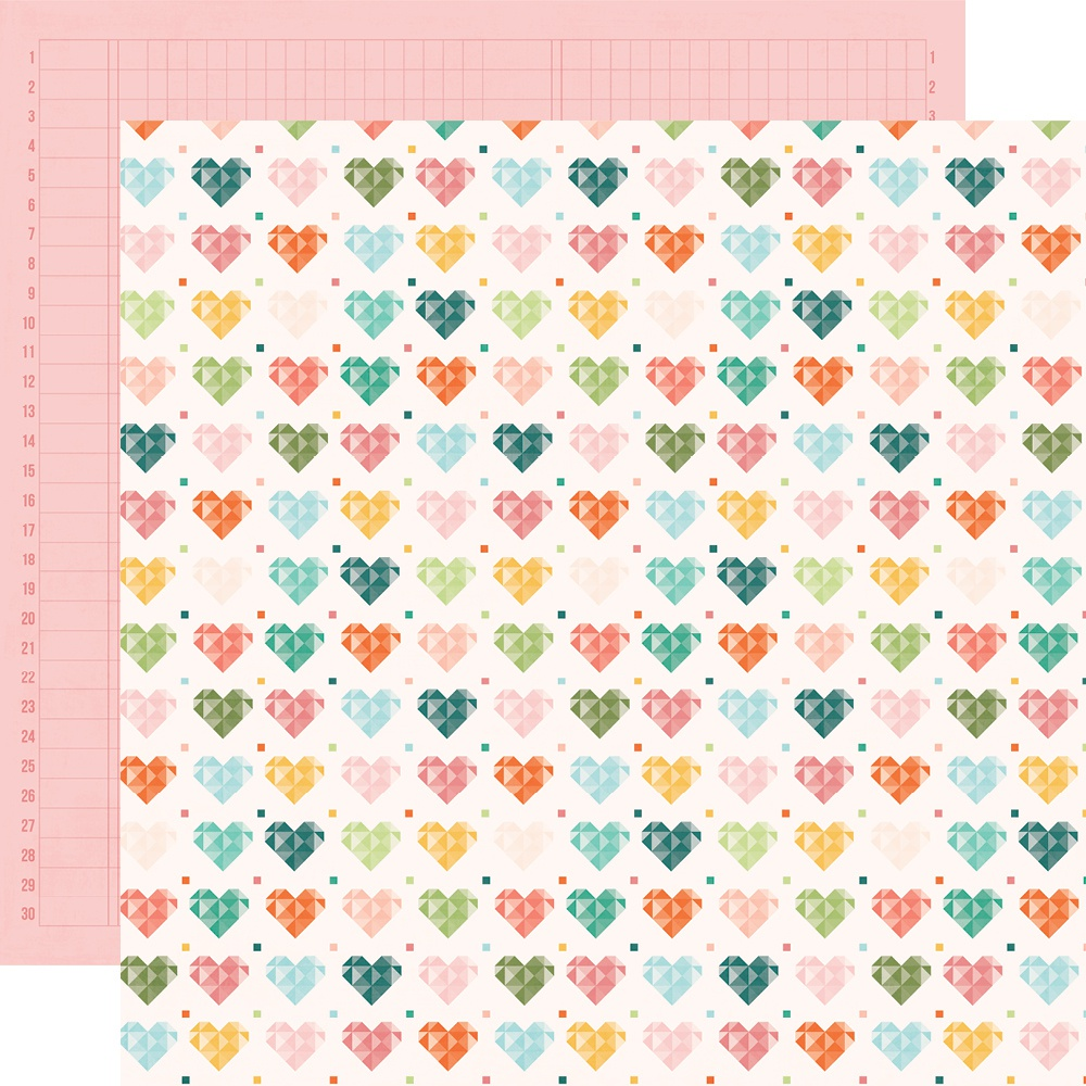 Hey, Crafty Girl Double-Sided Cardstock 12X12-Made With Love