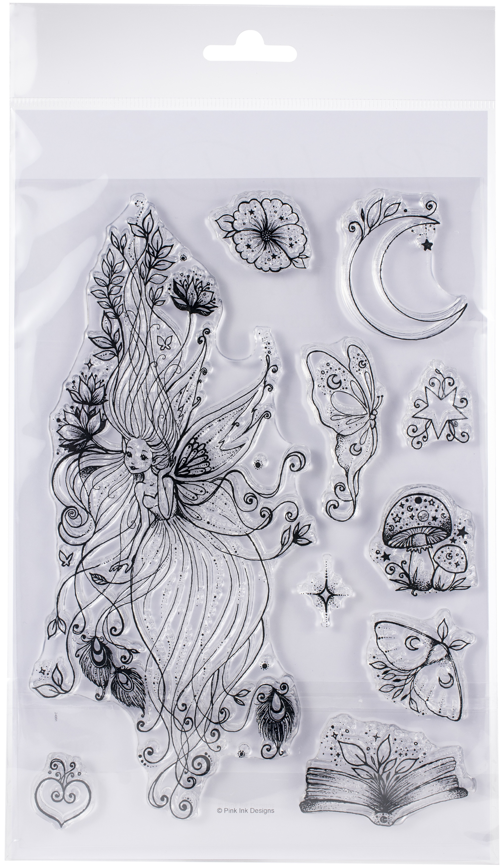 Pink Ink Designs A5 Clear Stamp Set -Luna Fairy
