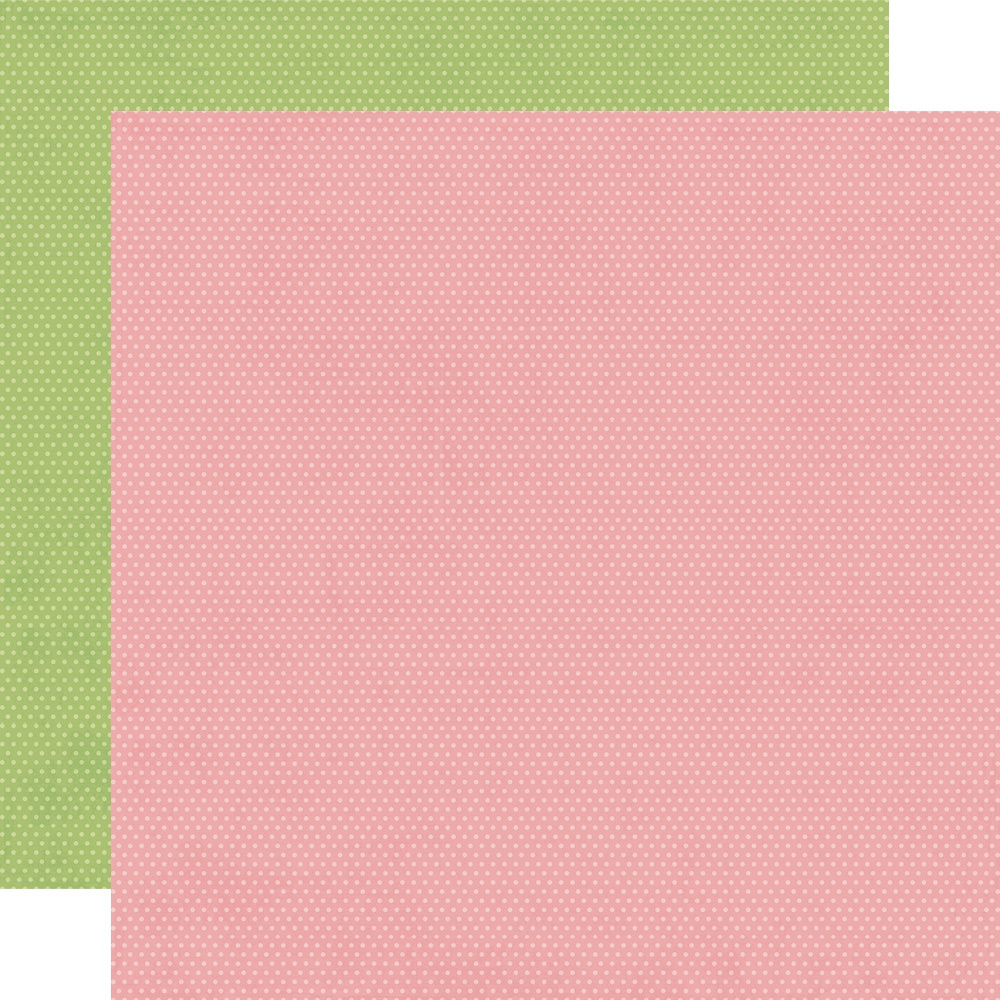 Hey, Crafty Girl Double-Sided Cardstock 12X12-Rose/Pear Dots Simple Basics