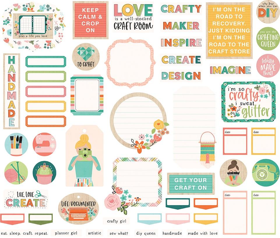Hey, Crafty Girl Bits & Pieces Die-Cuts 56/Pkg-Journal
