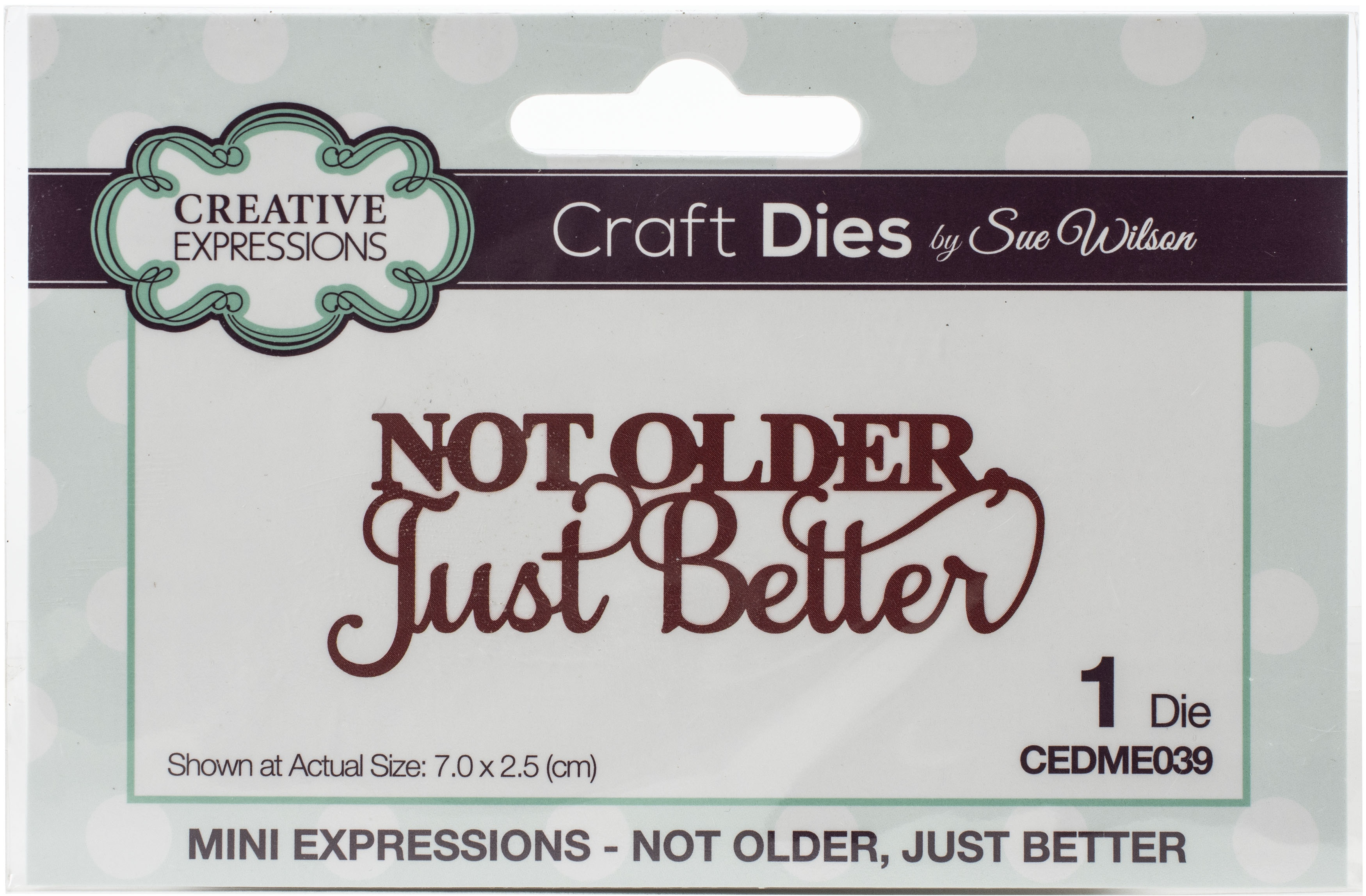 Creative Expressions Craft Dies By Sue Wilson-Mini Expressions- Not Older Just B...