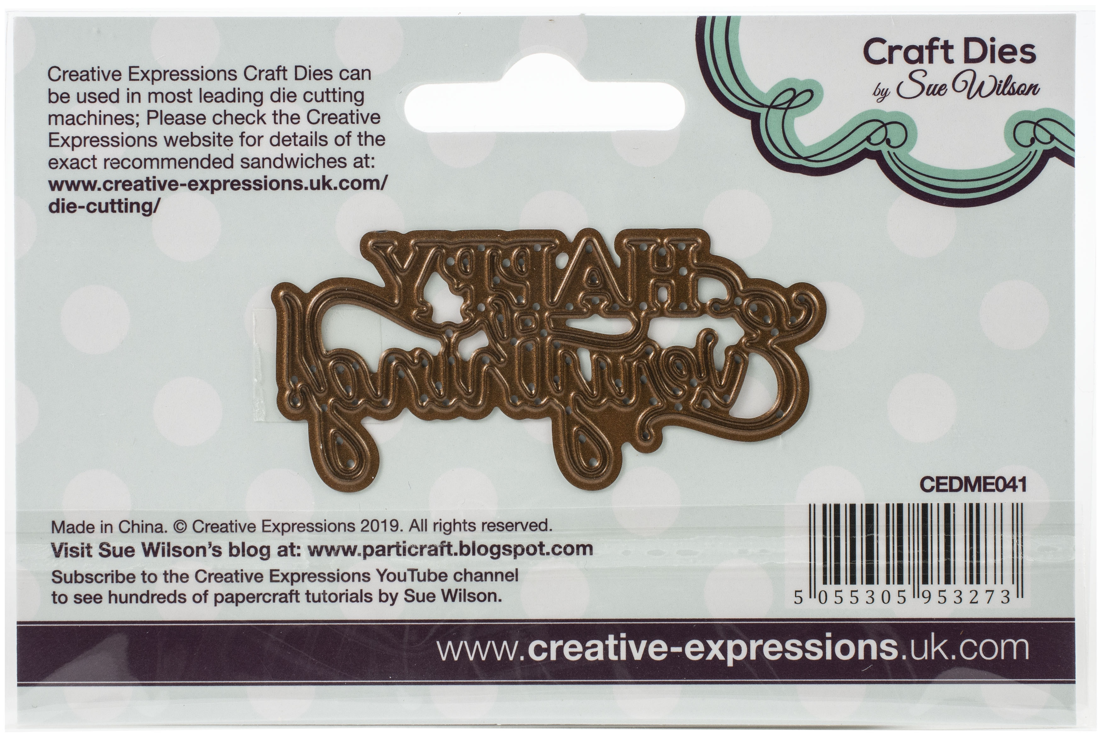 Creative Expressions Craft Dies By Sue Wilson-Mini Expressions- Happy Everything
