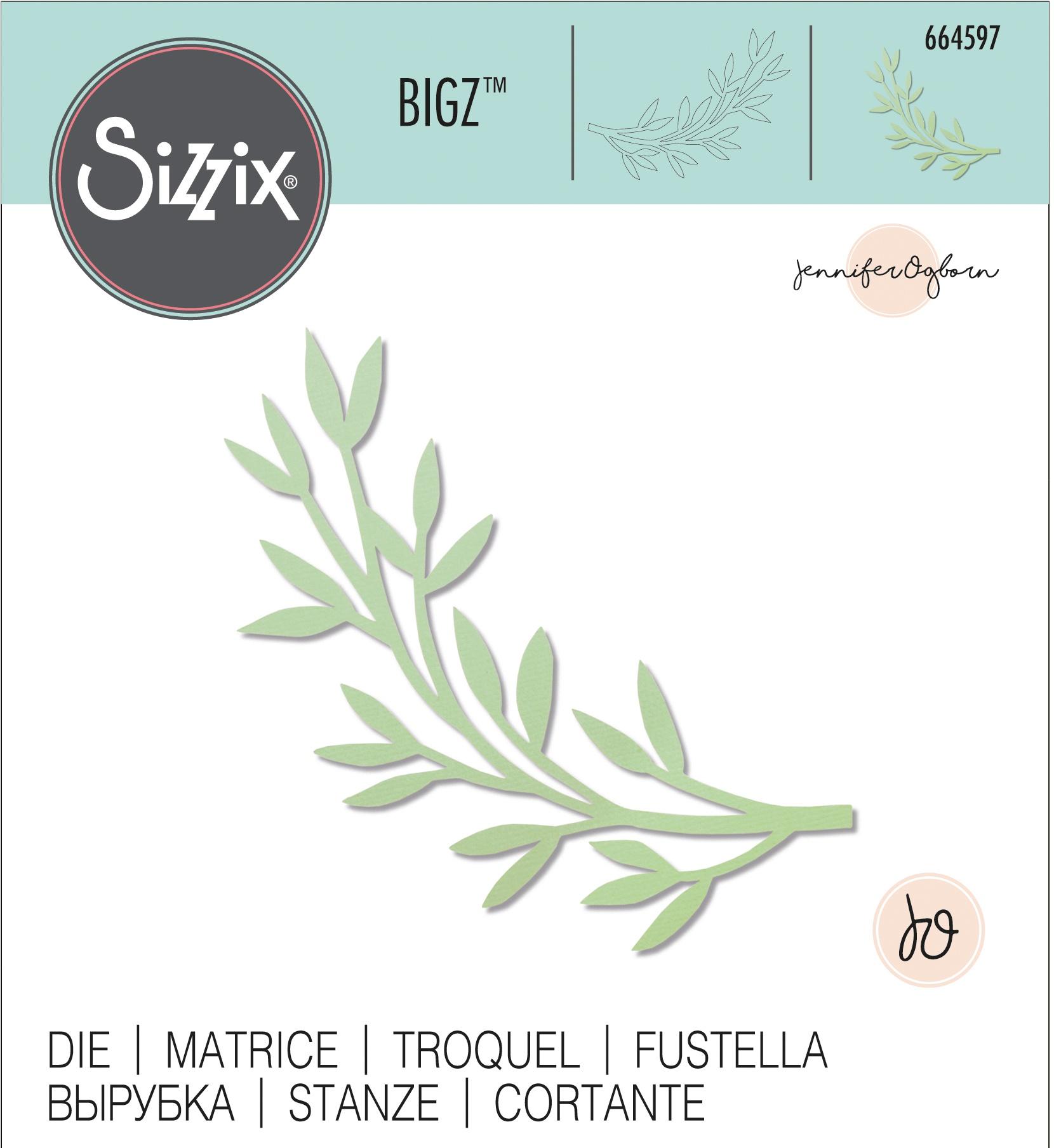 Sizzix Bigz Die By Jennifer Ogborn-Modern Foliage