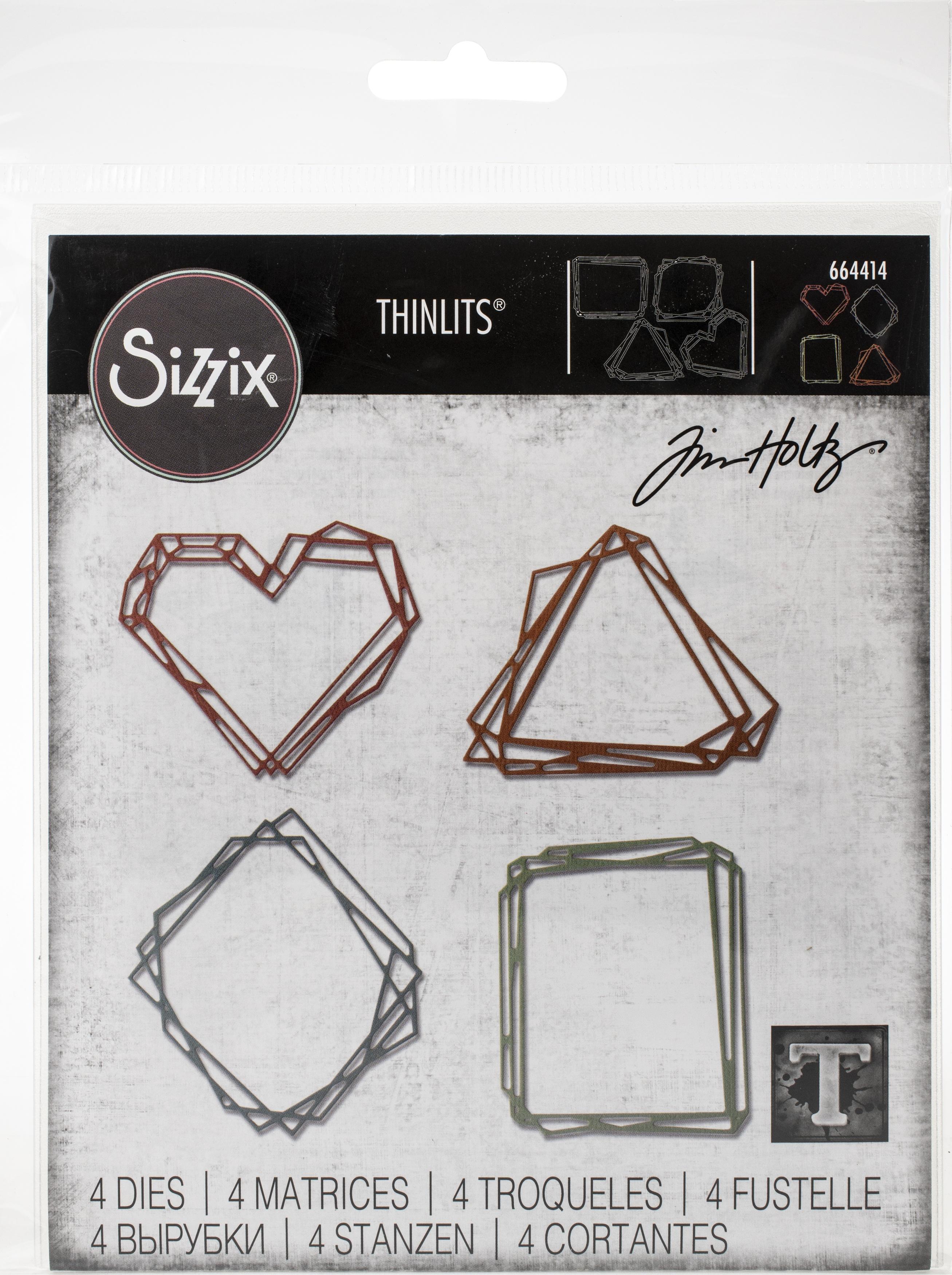 Sizzix Thinlits Dies By Tim Holtz-Geo Frames