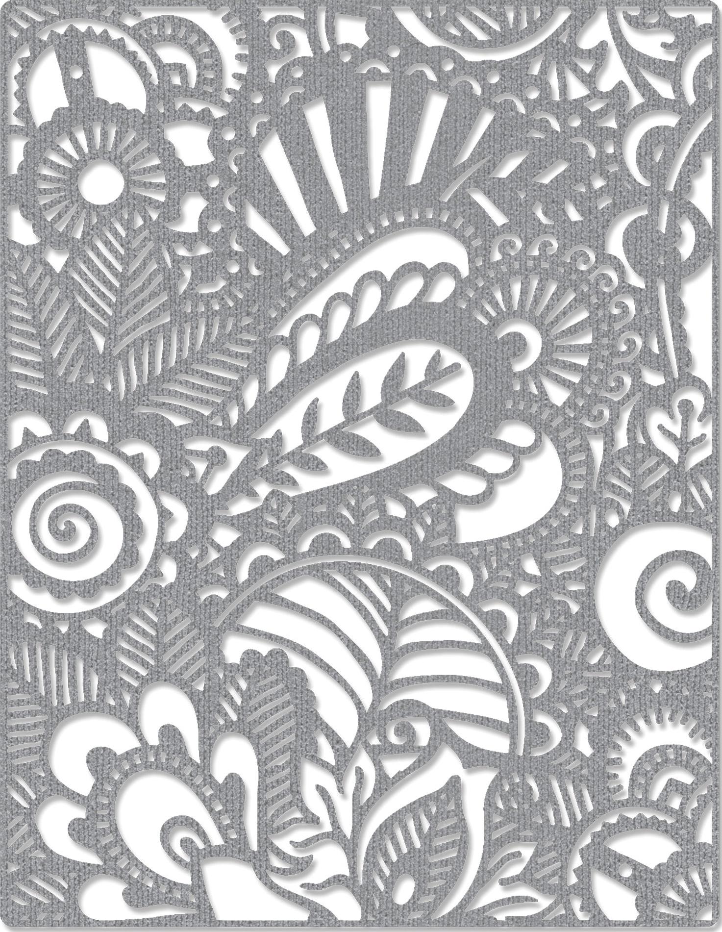 Sizzix Thinlits Dies By Tim Holtz-Doodle Art