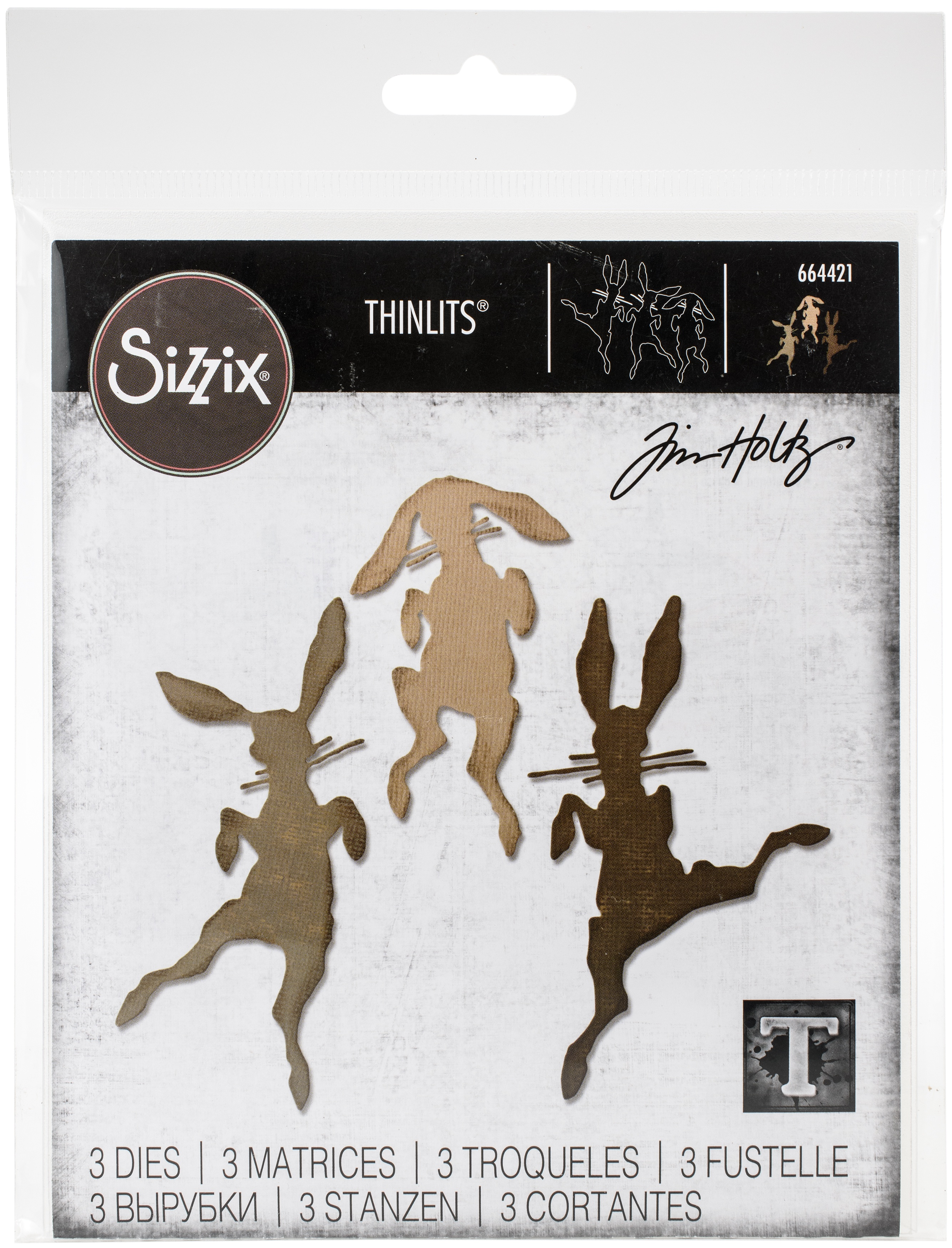 Sizzix Thinlits Dies By Tim Holtz-Bunny Hop