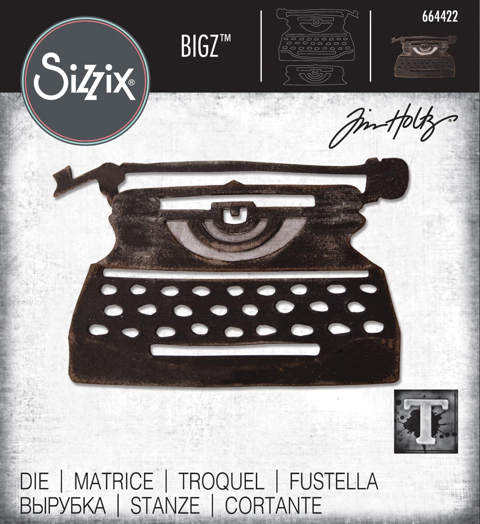 Sizzix Bigz Die By Tim Holtz-Retro Type