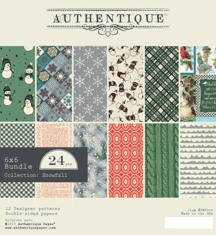 Authentique Double-Sided Cardstock Pad 6X6 24/Pkg-Snowfall, 6 Designs/4 Each