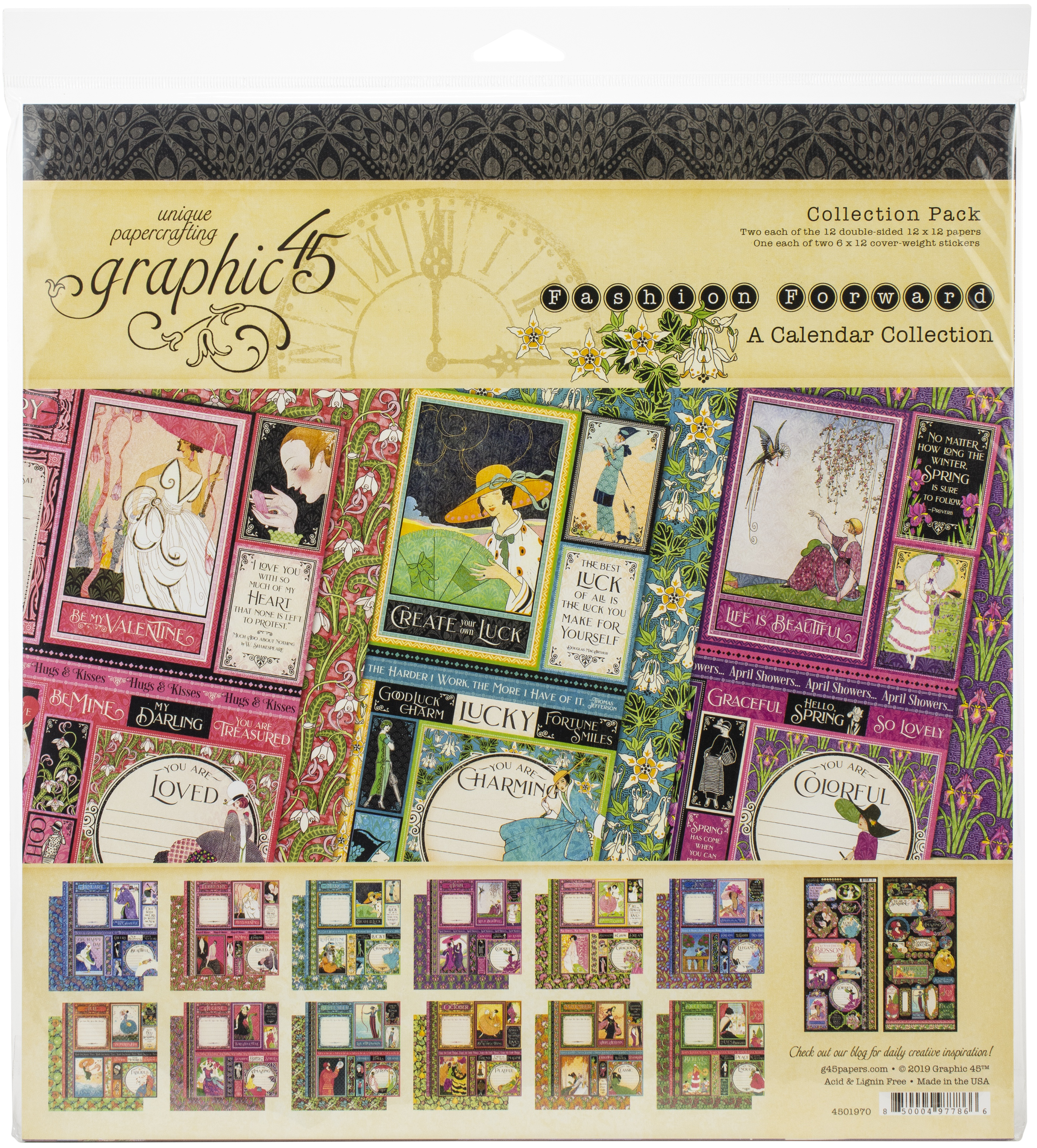 Graphic 45 Collection Pack 12X12-Fashion Forward